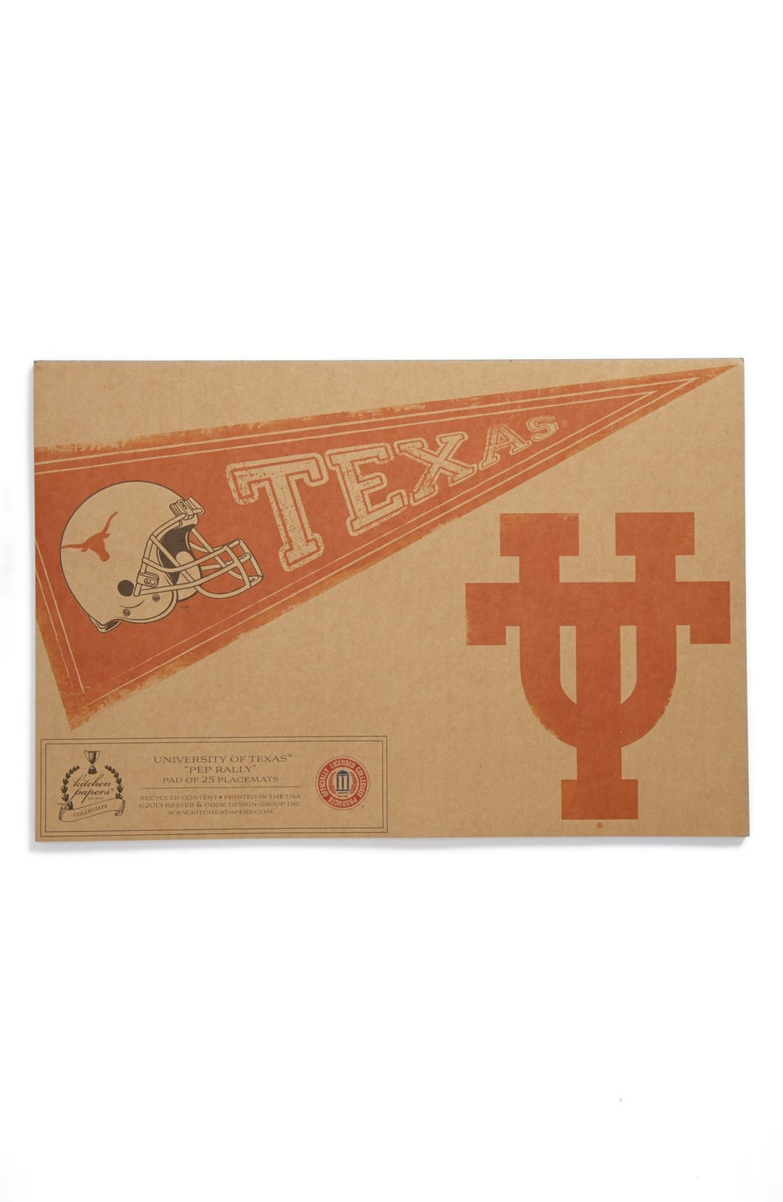 Main Image - Kitchen Papers by Cake 'Pennant - Texas Longhorns' Paper Placemat Pad