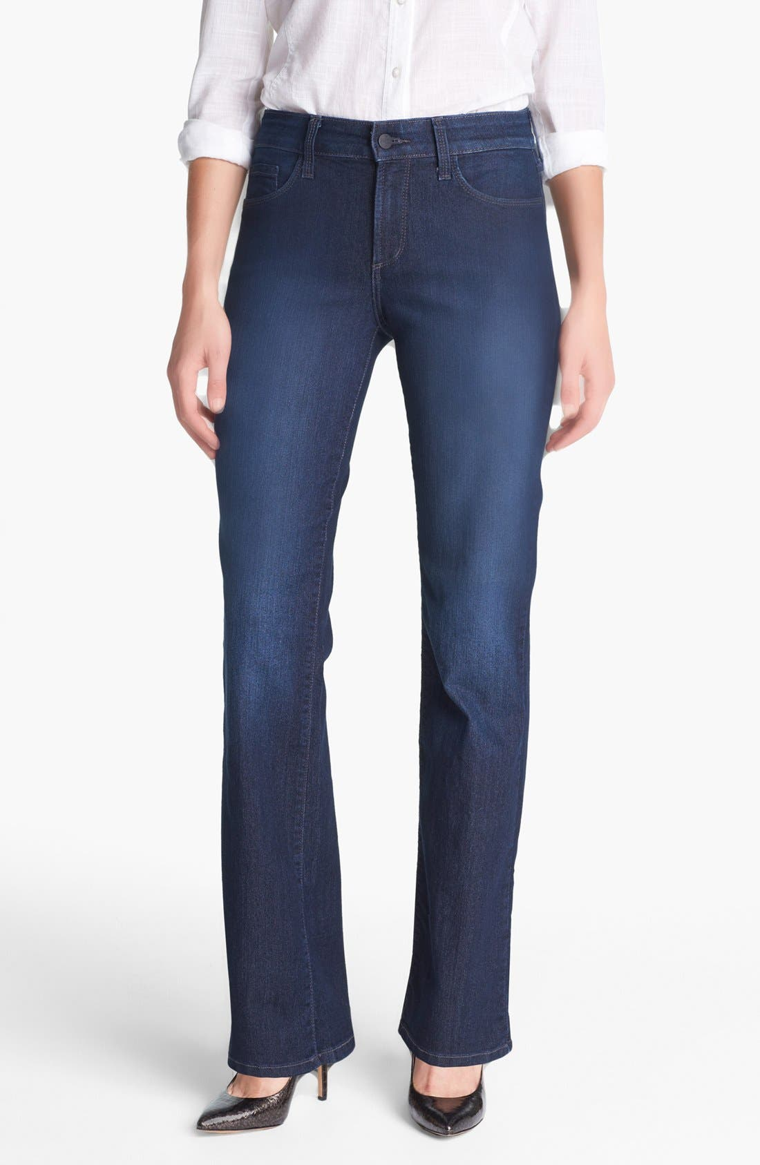 Alternate Image 1 Selected - NYDJ 'Barbara' Embellished Stretch Bootcut Jeans (Burbank)