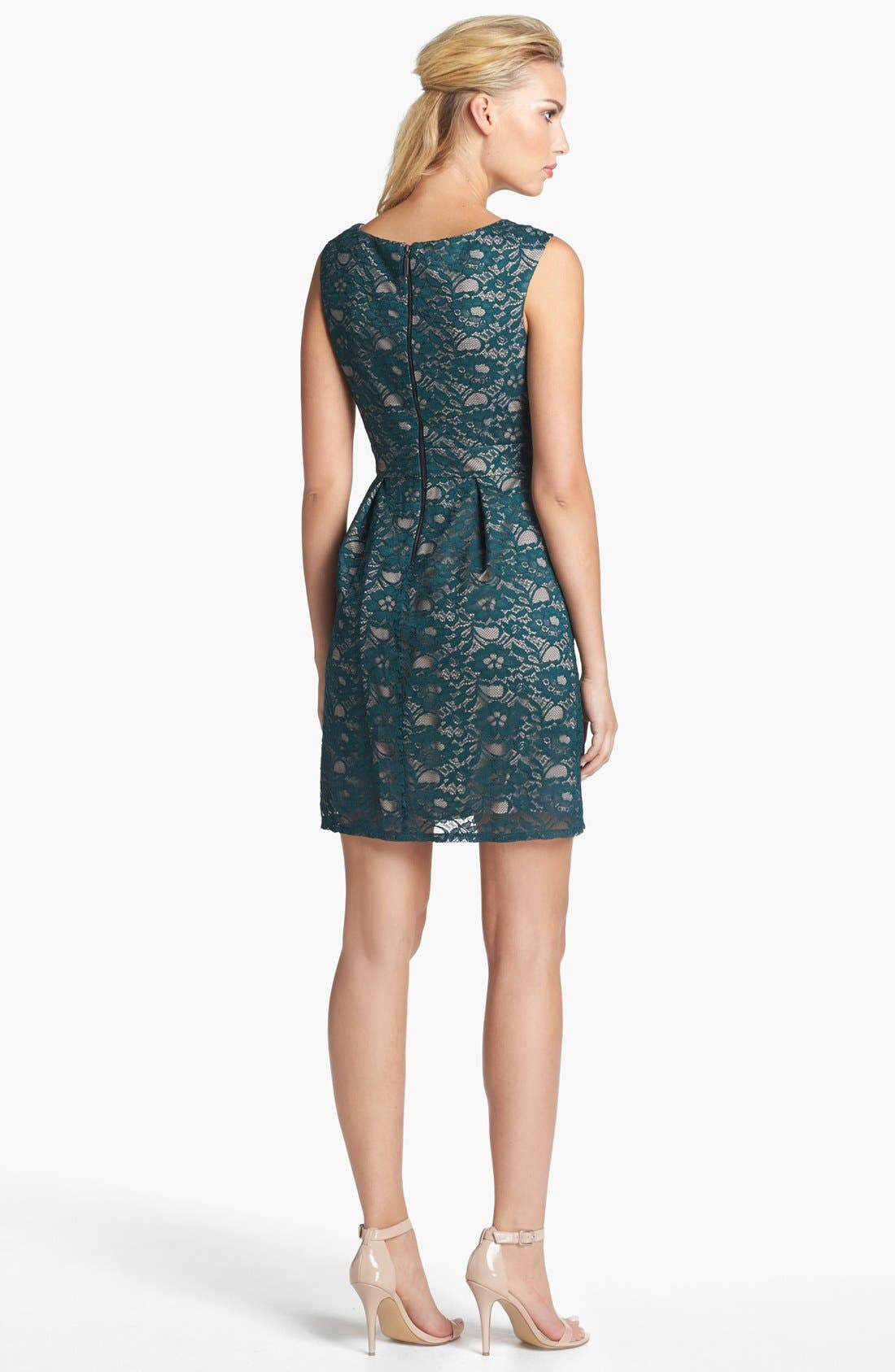 Alternate Image 2  - Donna Ricco Lace Fit & Flare Dress