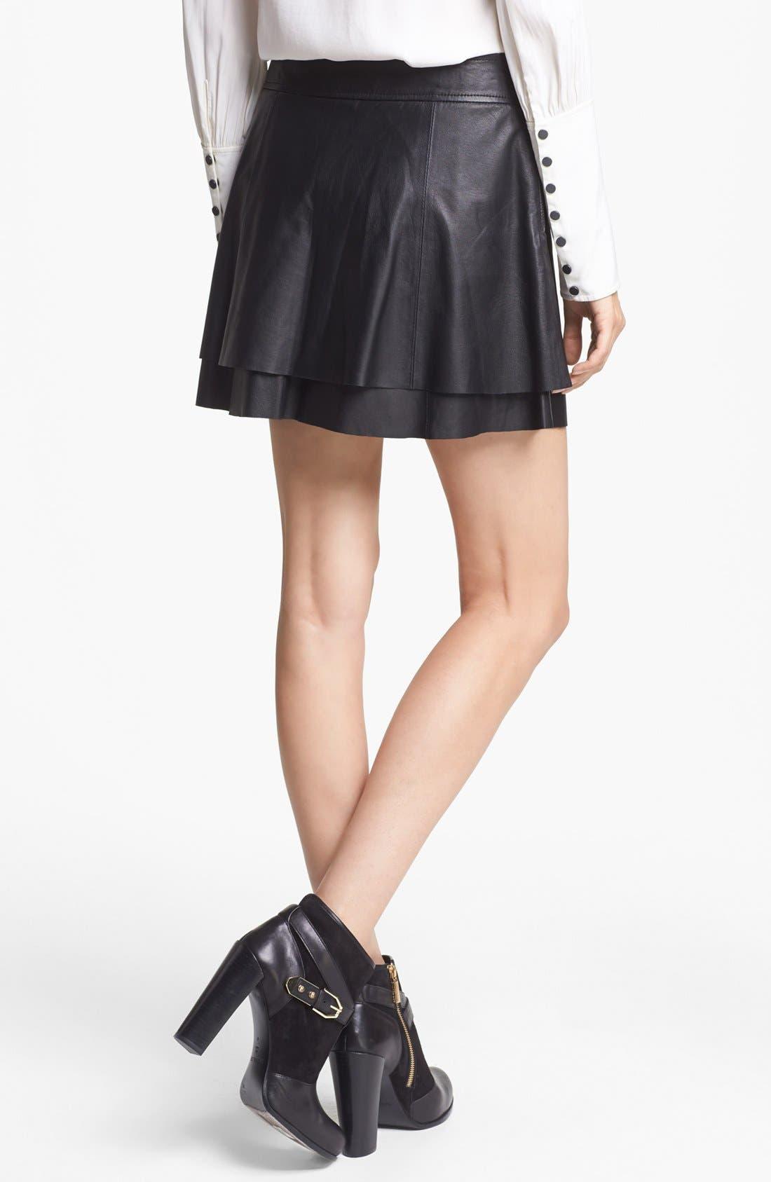 Alternate Image 2  - Rachel Zoe 'Venice' Lambskin Leather Miniskirt