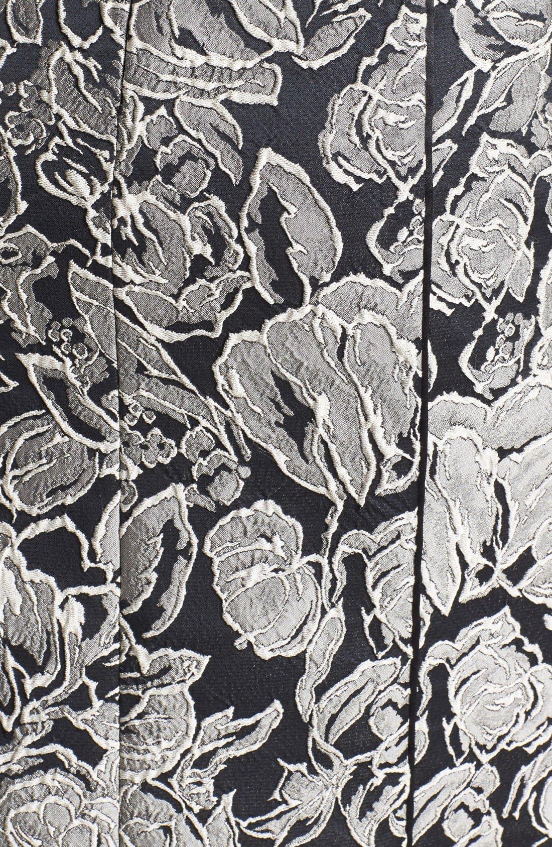 Alternate Image 3  - Aidan Mattox Textured Floral Sheath Dress