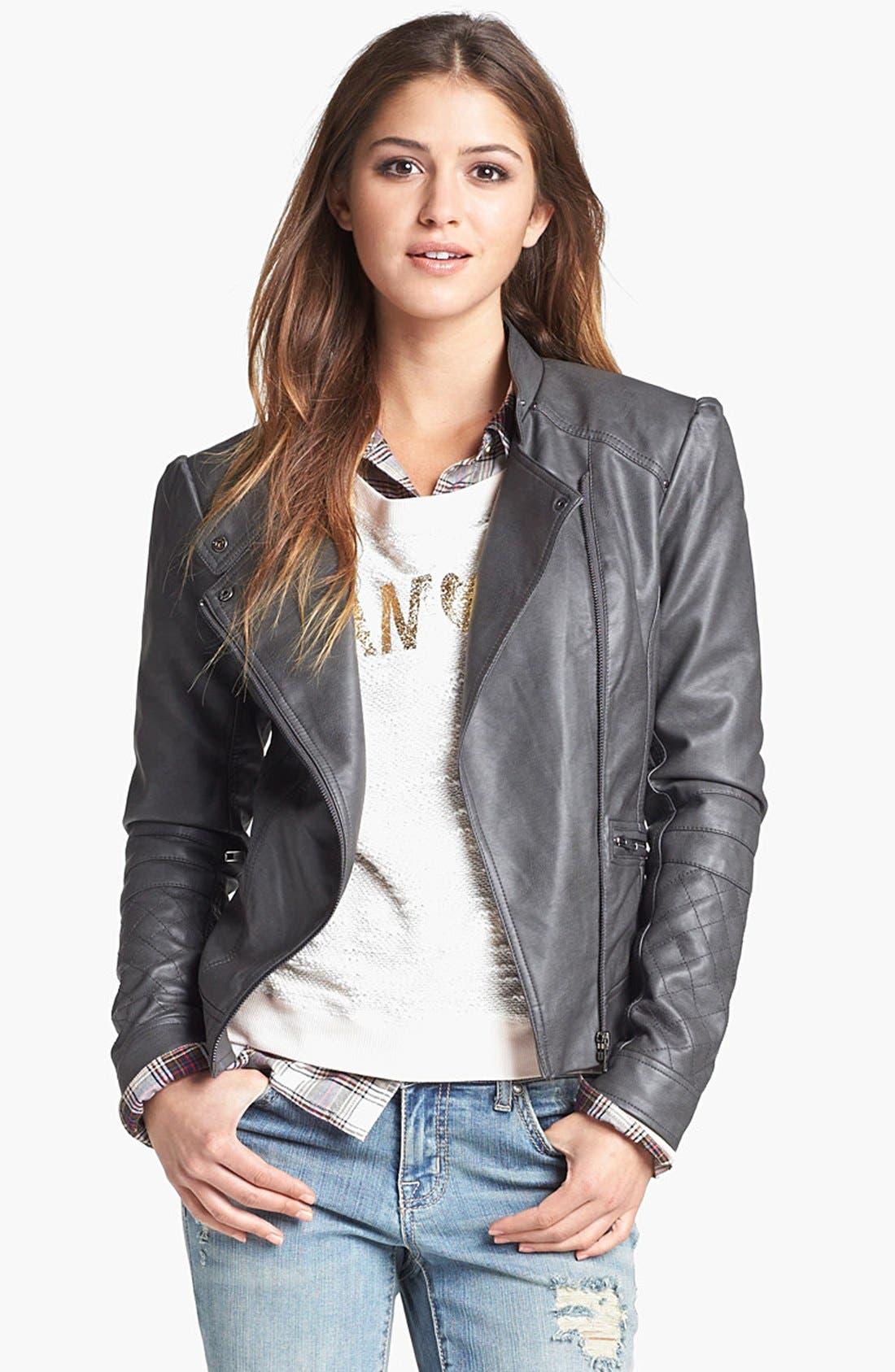 Alternate Image 2  - Jessica Simpson 'Trey' Faux Leather Moto Jacket