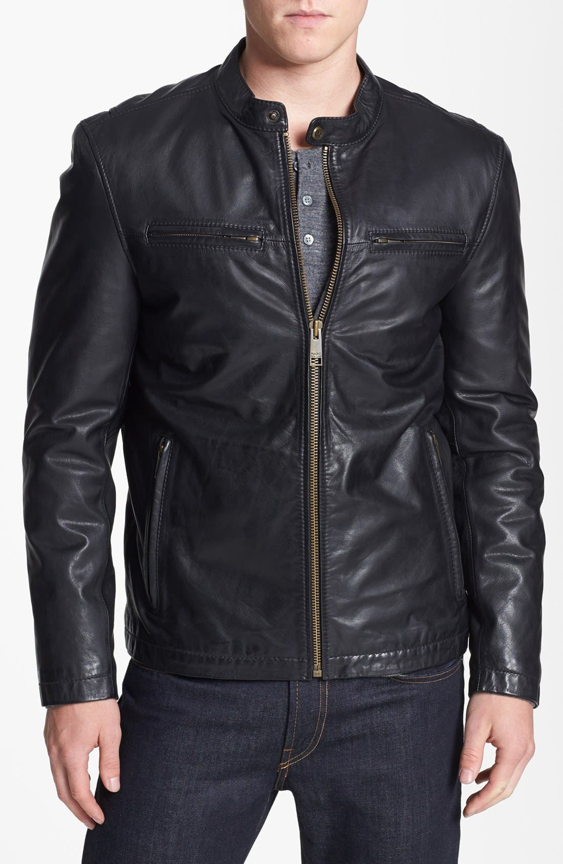 Alternate Image 1 Selected - Marc New York by Andrew Marc 'Cannon' Leather Moto Jacket