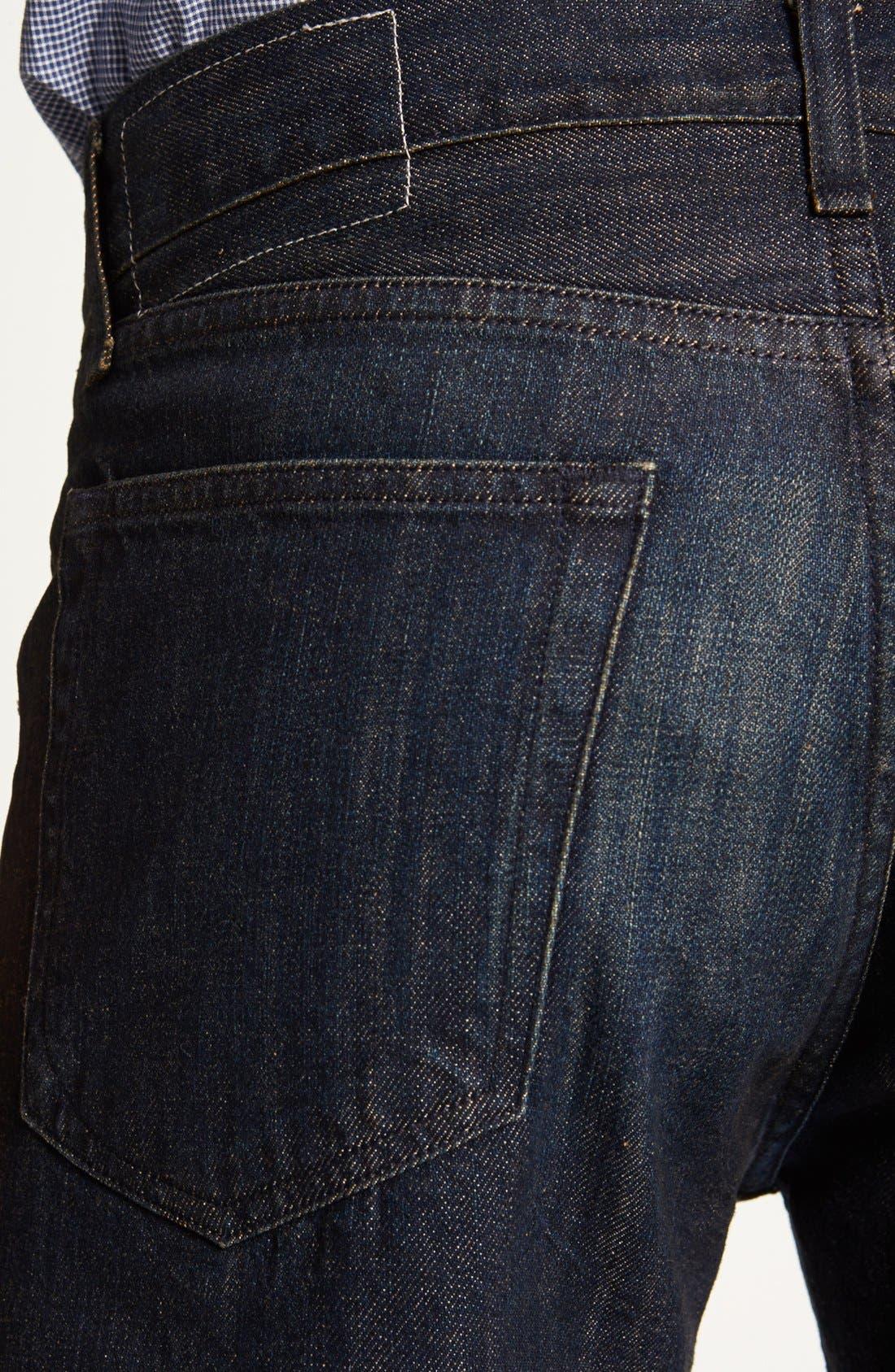 Alternate Image 4  - rag & bone 'RB15X' Slim Straight Leg Jeans (Indigo Flint)