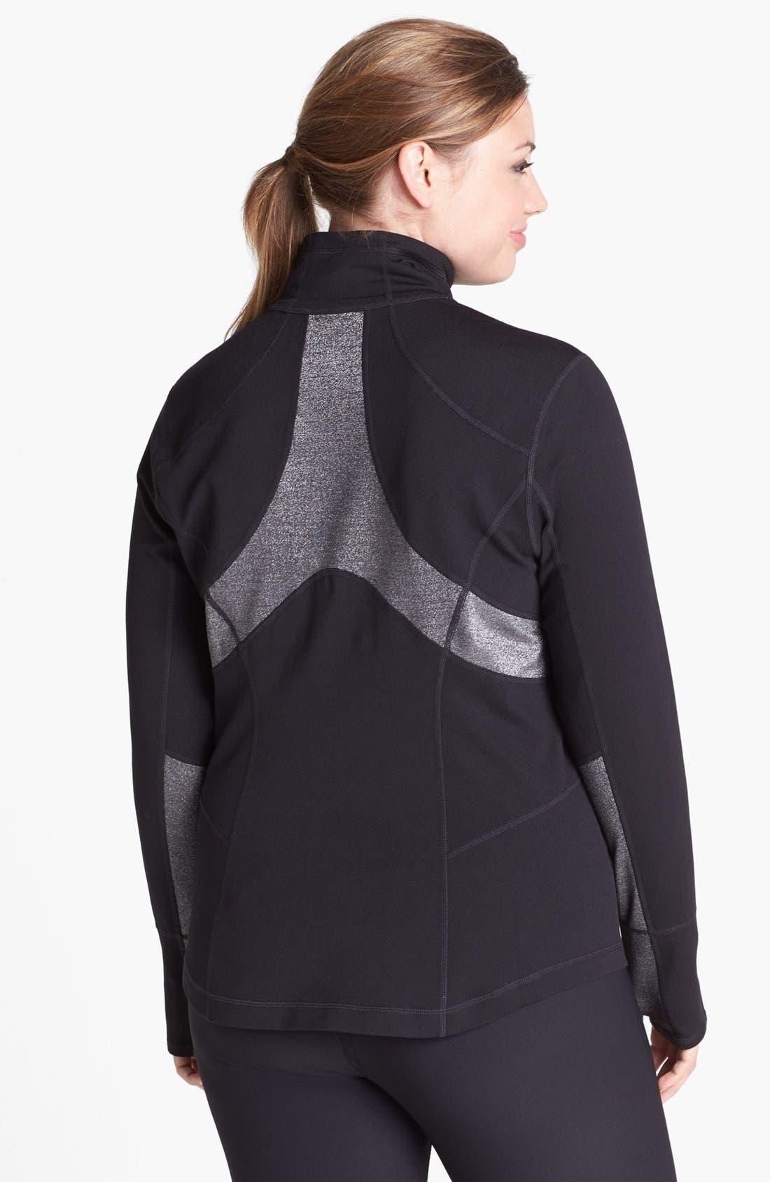 Main Image - Zella 'Luxe Mix' Jacket (Plus Size)