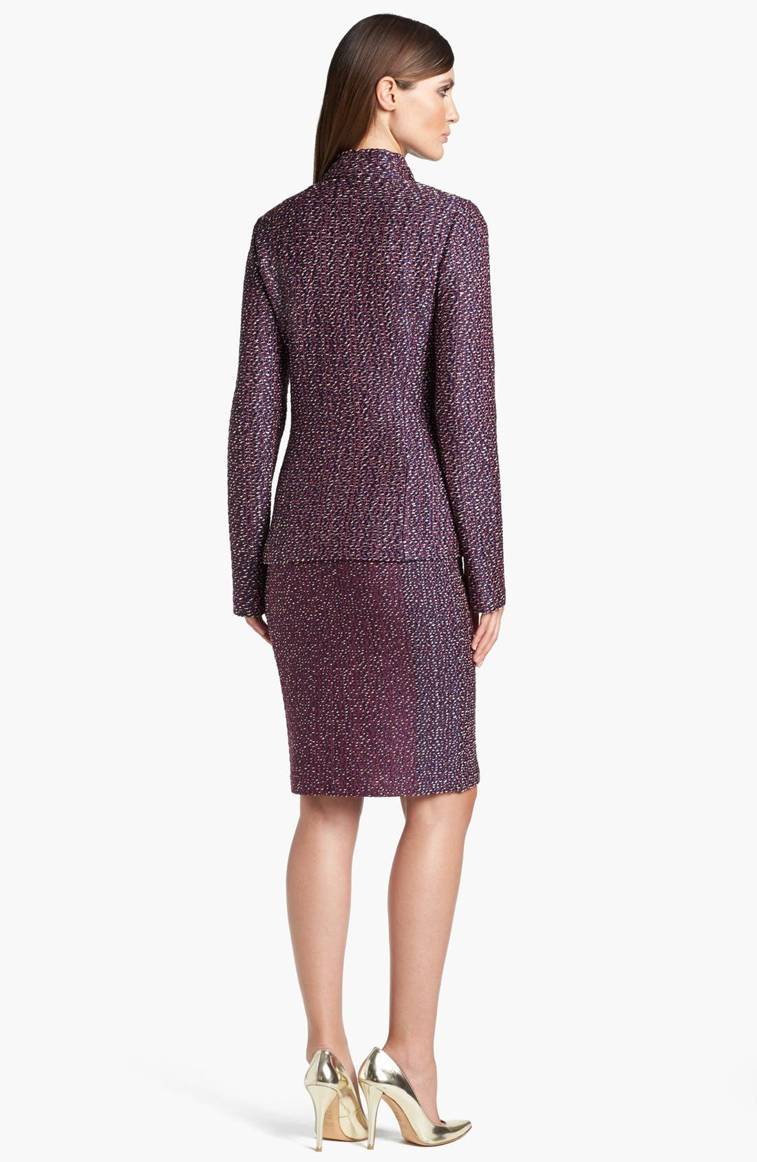 Alternate Image 3  - St. John Collection Dash Tweed Knit Jacket