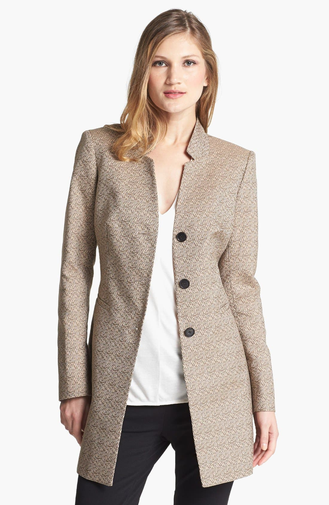 Main Image - Lafayette 148 New York 'Idealist' Herringbone Topper