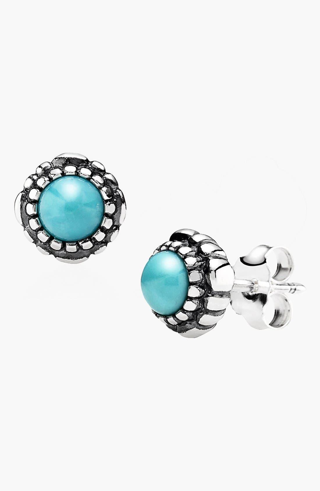 Alternate Image 1 Selected - PANDORA 'Birthday Blooms' Stud Earrings