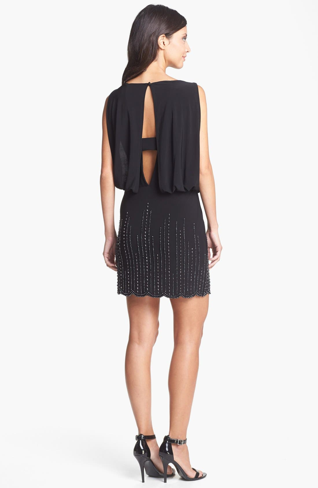 Alternate Image 3  - Xscape Embellished Blouson Dress