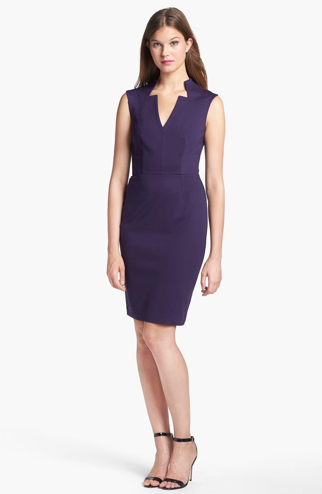 Alternate Image 1 Selected - Trina Turk 'Jubee' Ponte Sheath Dress