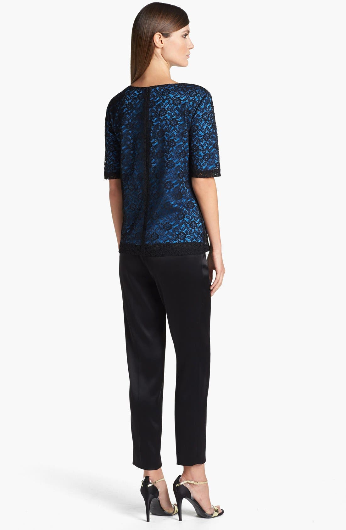 Alternate Image 3  - St. John Collection Floral Lace Top
