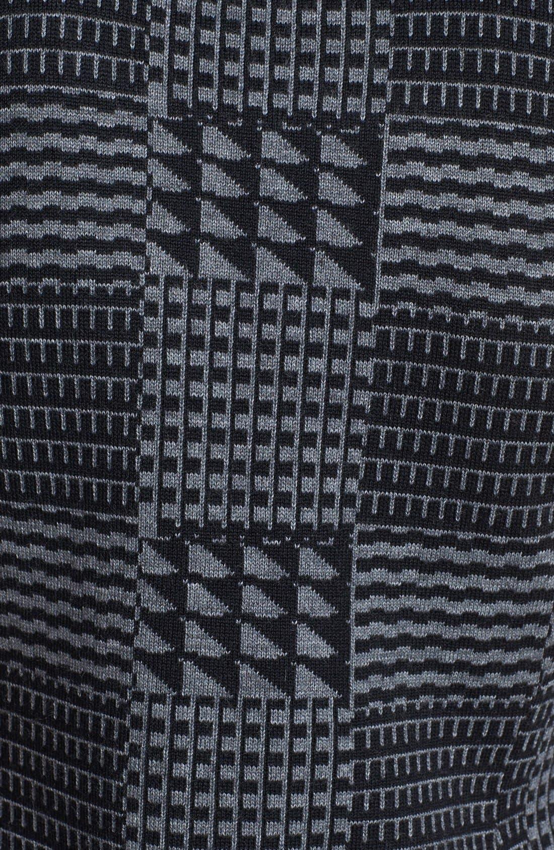 Alternate Image 3  - Halogen® Faux Leather Trim Knit Sheath Dress