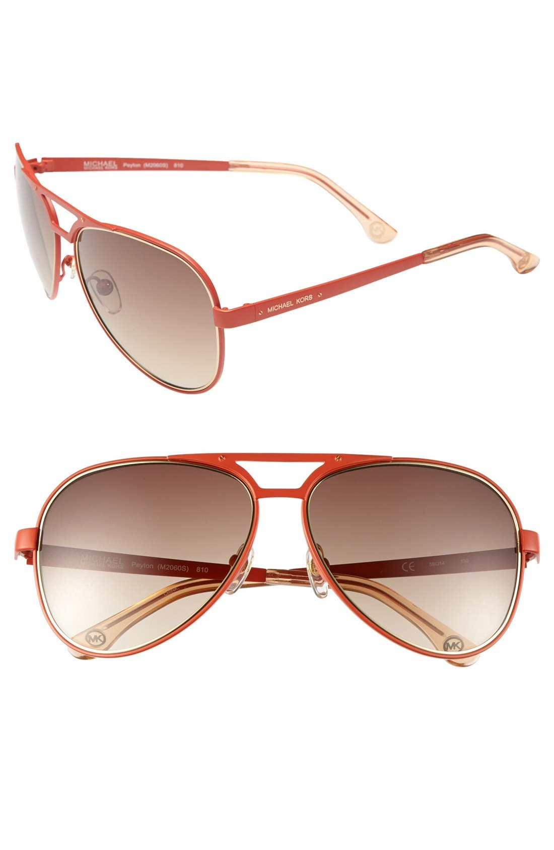 Alternate Image 1 Selected - MICHAEL Michael Kors 59mm Aviator Sunglasses