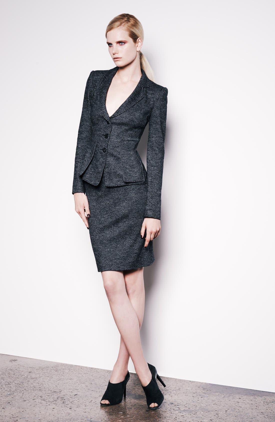 Alternate Image 4  - Armani Collezioni Herringbone Jersey Skirt
