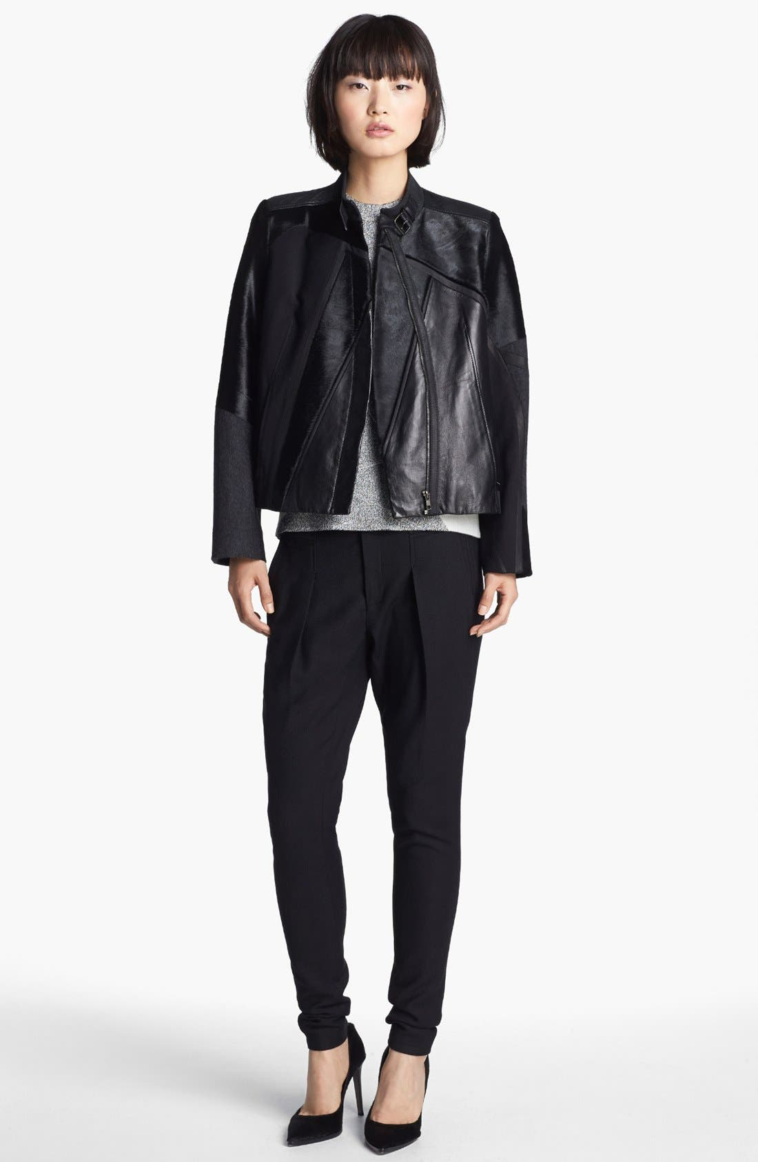 Alternate Image 2  - Helmut Lang Genuine Calf Hair & Leather Jacket