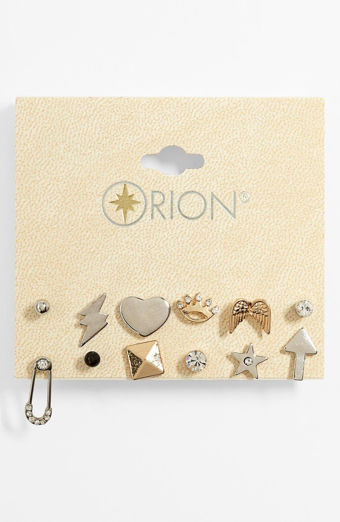Alternate Image 1 Selected - Orion 'Princess' Stud Earrings (Set of 12)
