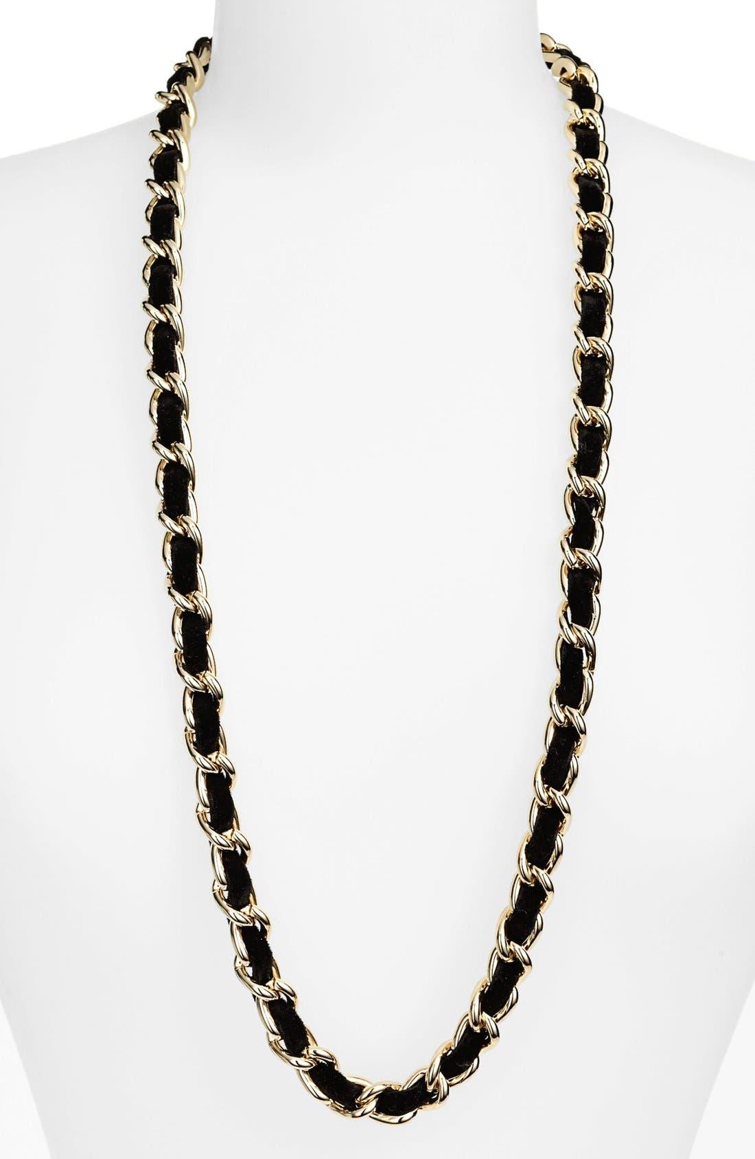 Main Image - Nordstrom Velvet Woven Chain Necklace