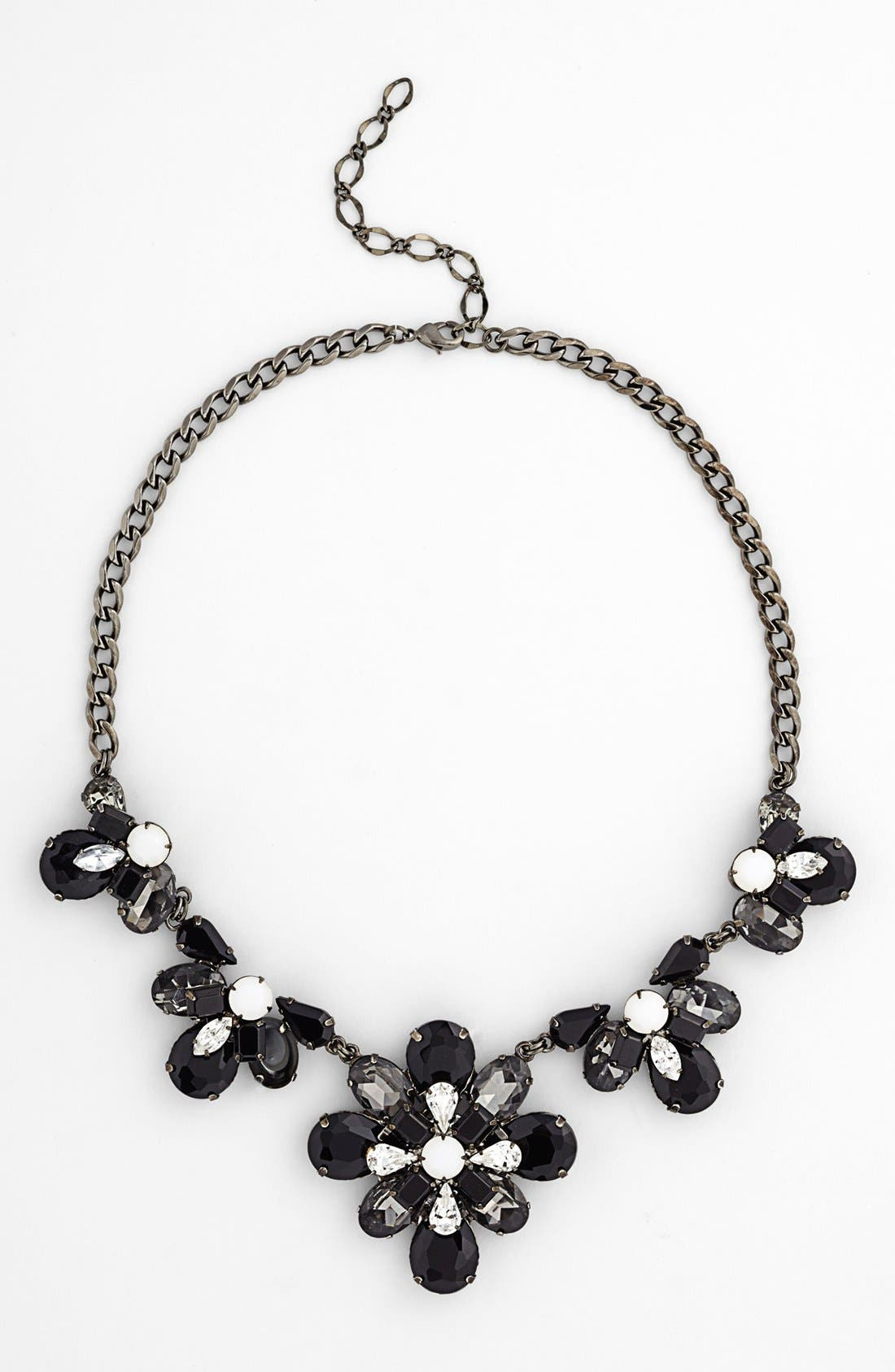 Alternate Image 2  - Nordstrom 'Lady Lux' Floral Stone Statement Necklace
