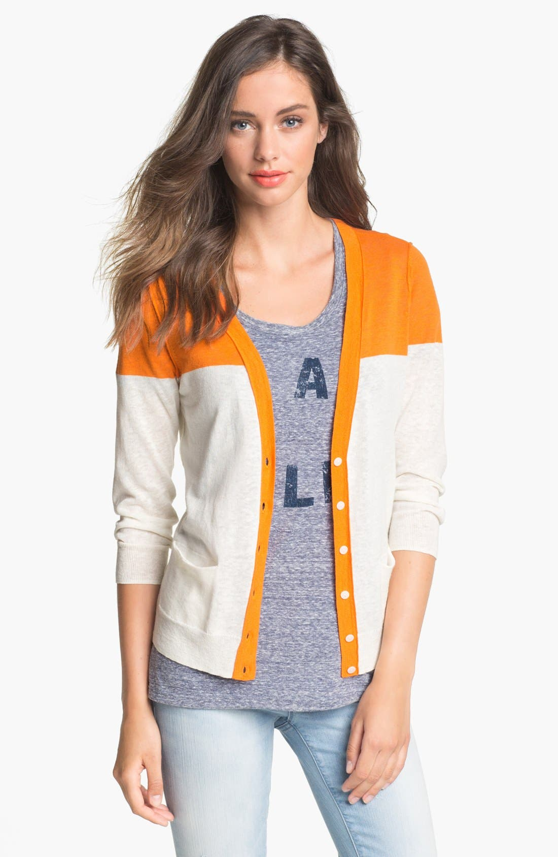 Alternate Image 1 Selected - Caslon® V-Neck Cardigan
