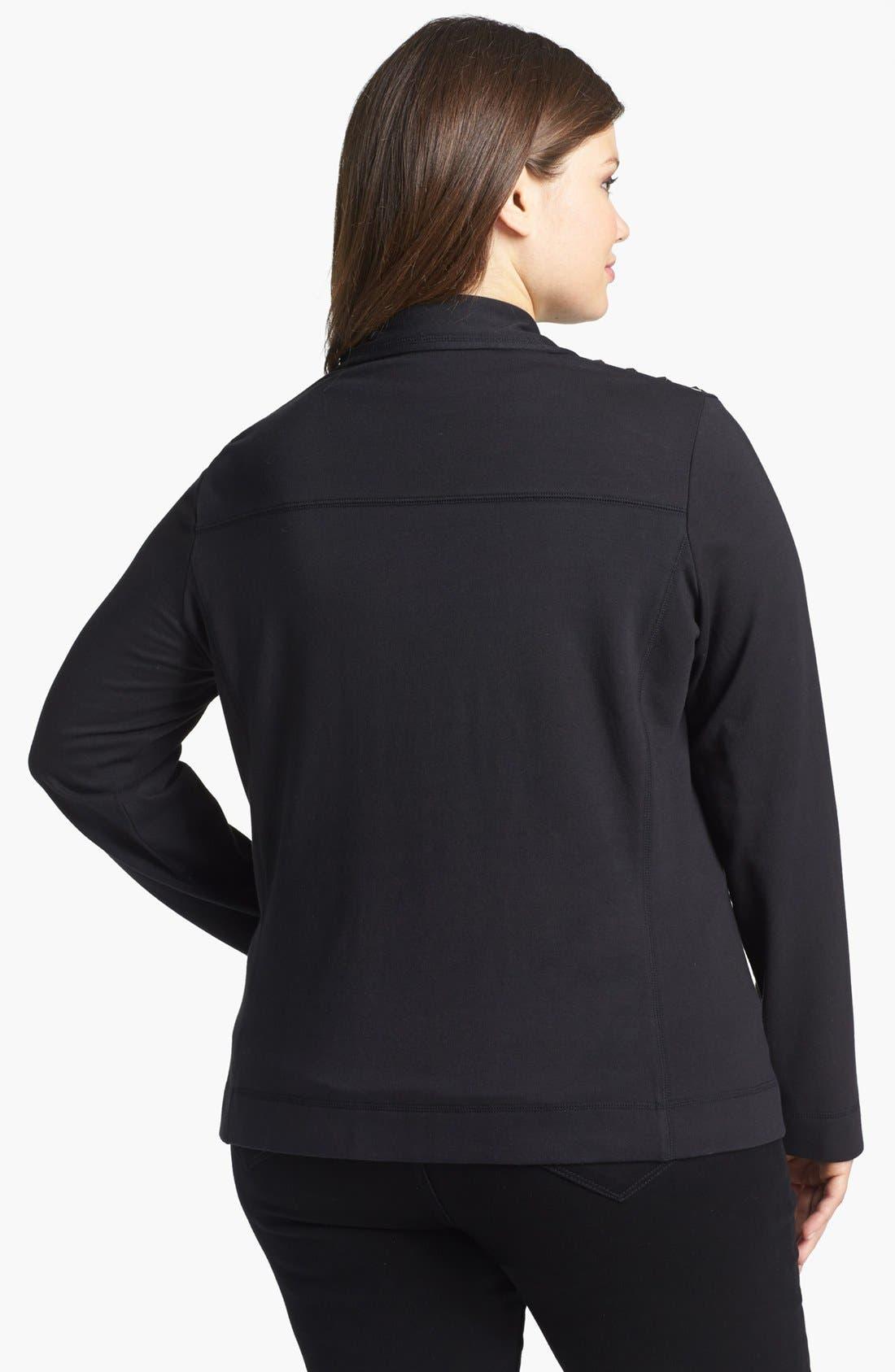 Alternate Image 2  - Sejour Studded Moto Jacket (Plus Size)