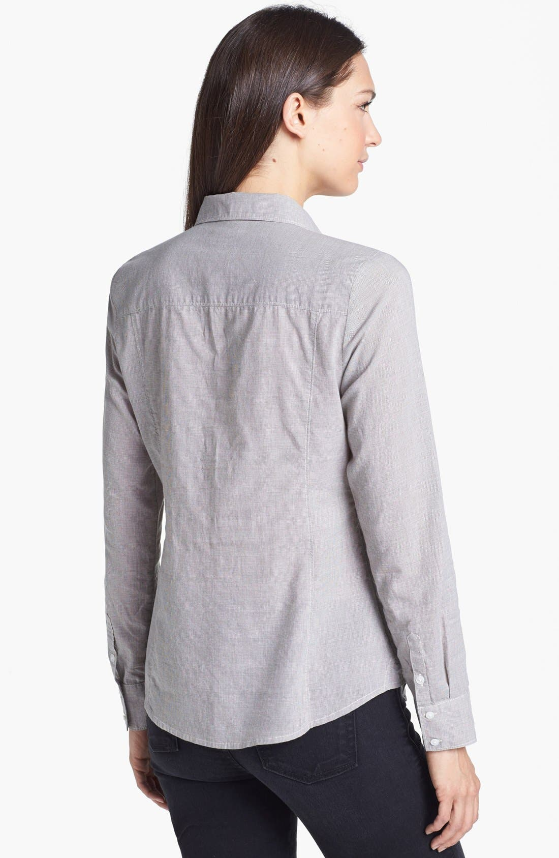 Alternate Image 2  - Caslon® Long Sleeve Shirt (Regular & Petite)