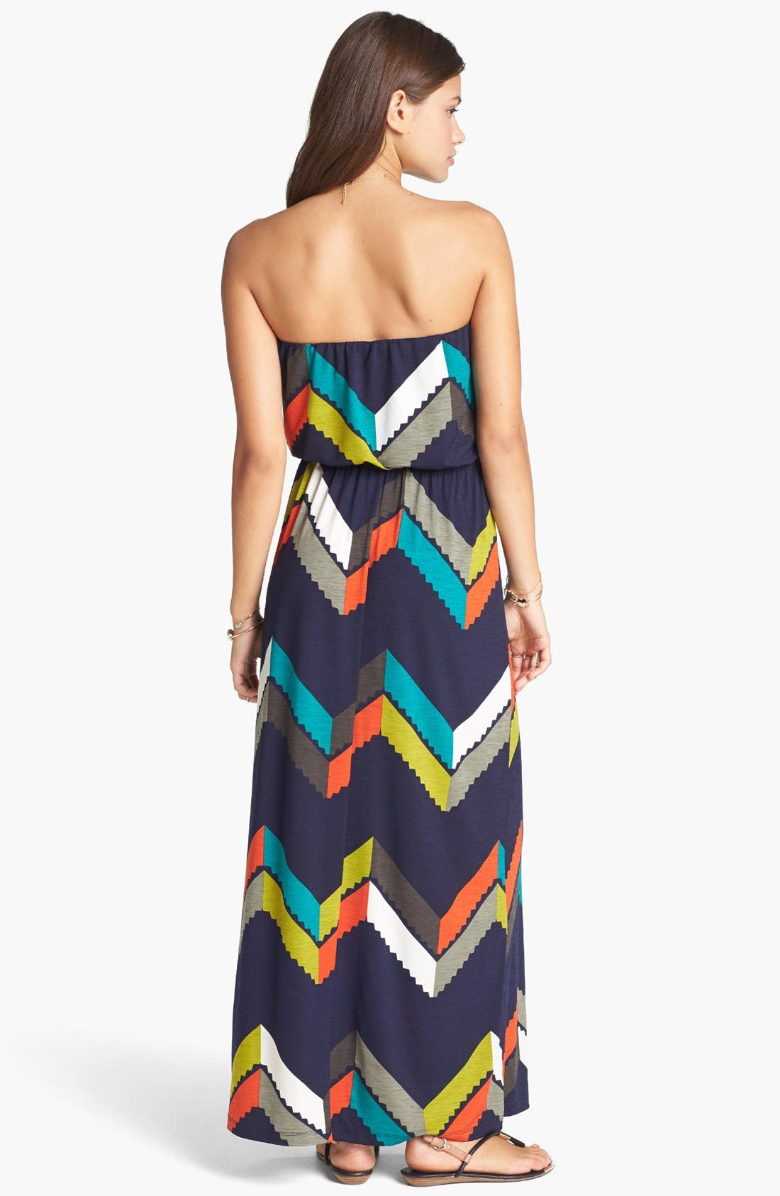 Alternate Image 2  - Trixxi Chevron Print Maxi Dress (Juniors)