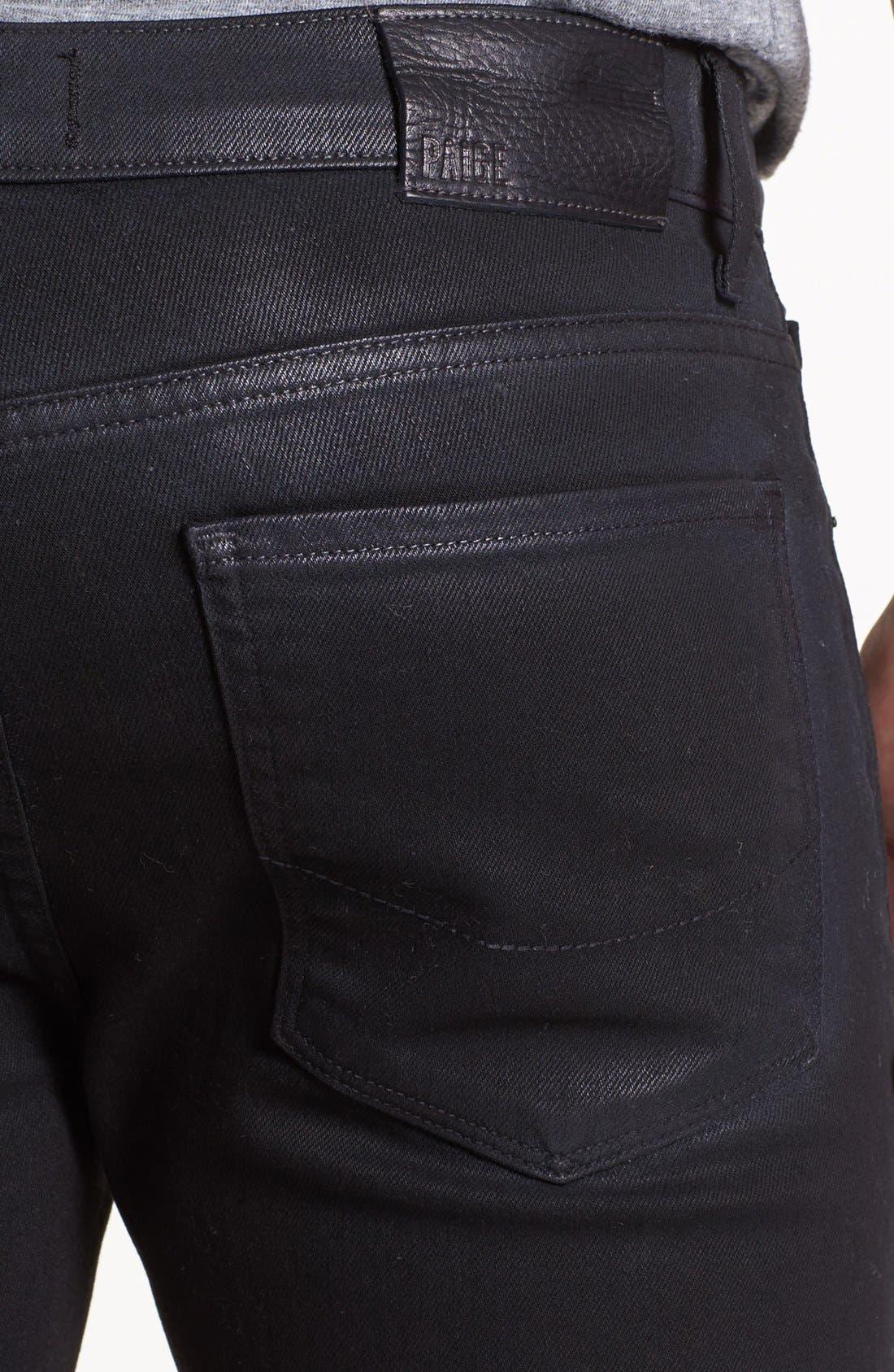 Alternate Image 4  - PAIGE 'Federal' Coated Slim Fit Jeans (Oil Slick)