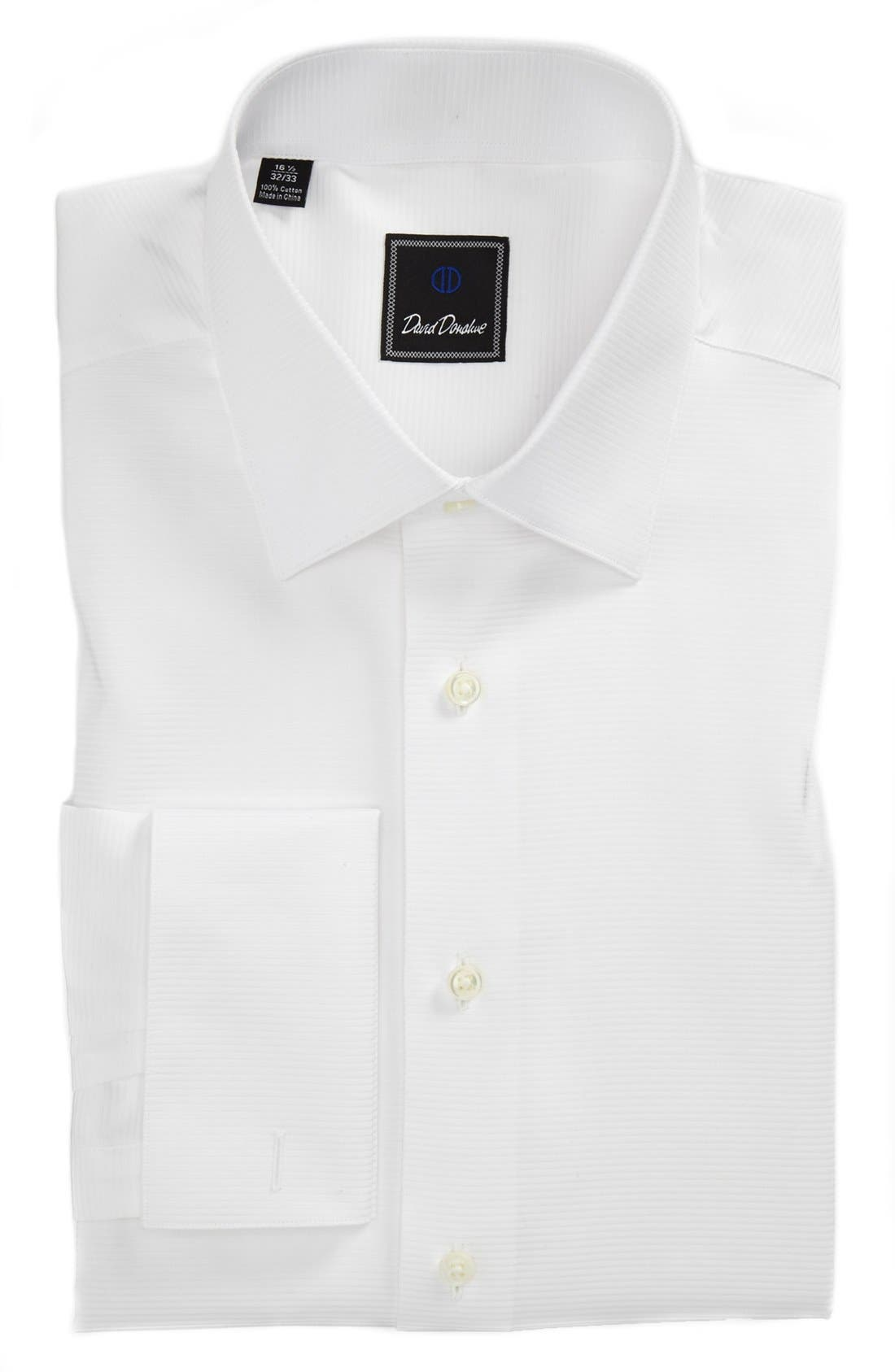 Alternate Image 1 Selected - David Donahue Horizontal Twill Regular Fit Tuxedo Shirt