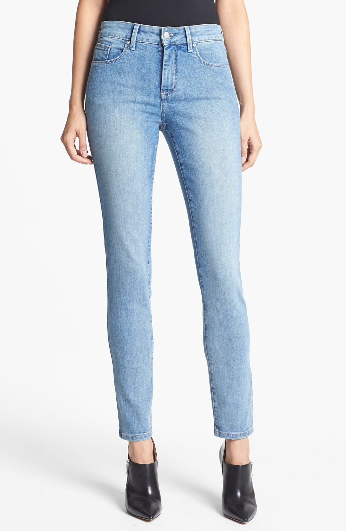 Alternate Image 1 Selected - NYDJ 'Alina' Stretch Skinny Jeans (Sacramento) (Petite)