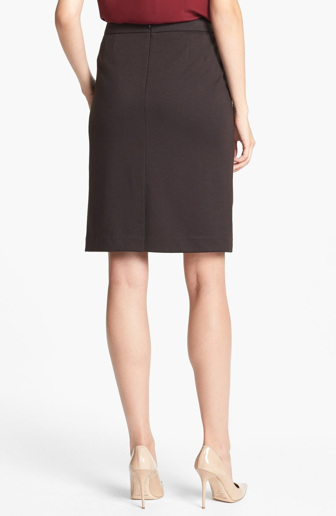 Alternate Image 2  - Jones New York 'Lucy' Ponte Knit Pencil Skirt