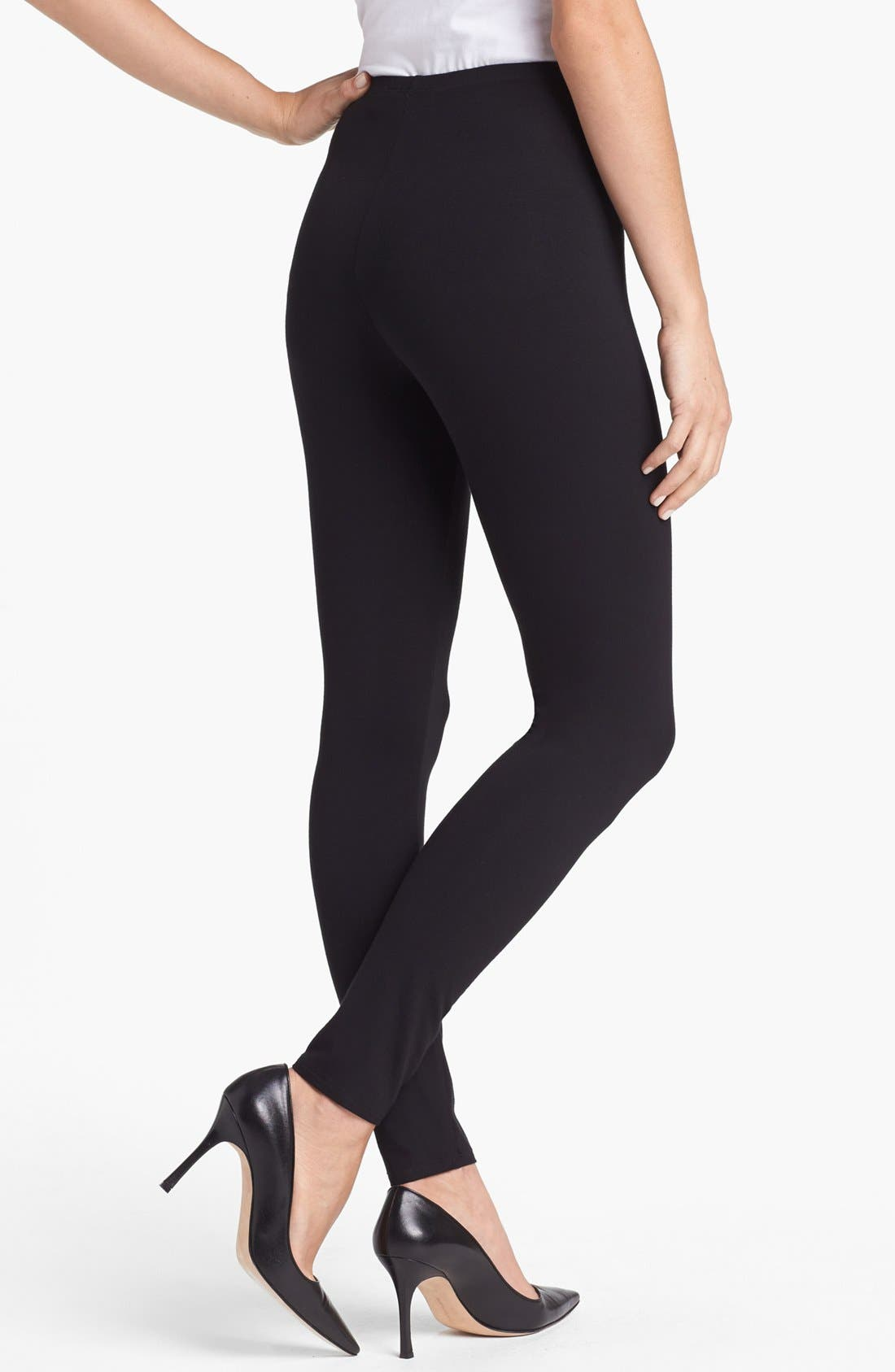 Alternate Image 2  - Eileen Fisher Stretch Ankle Leggings (Regular & Petite)
