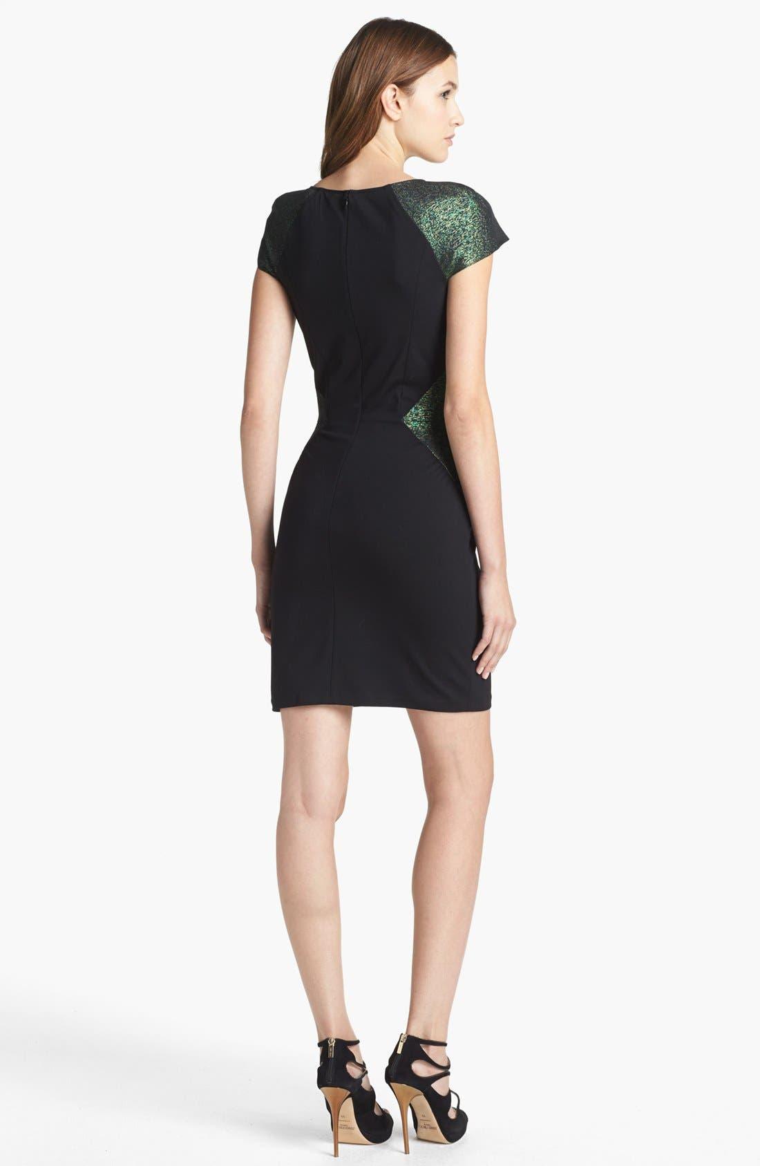 Alternate Image 2  - ERIN erin fetherston 'Eliane' Jacquard Colorblock Sheath Dress