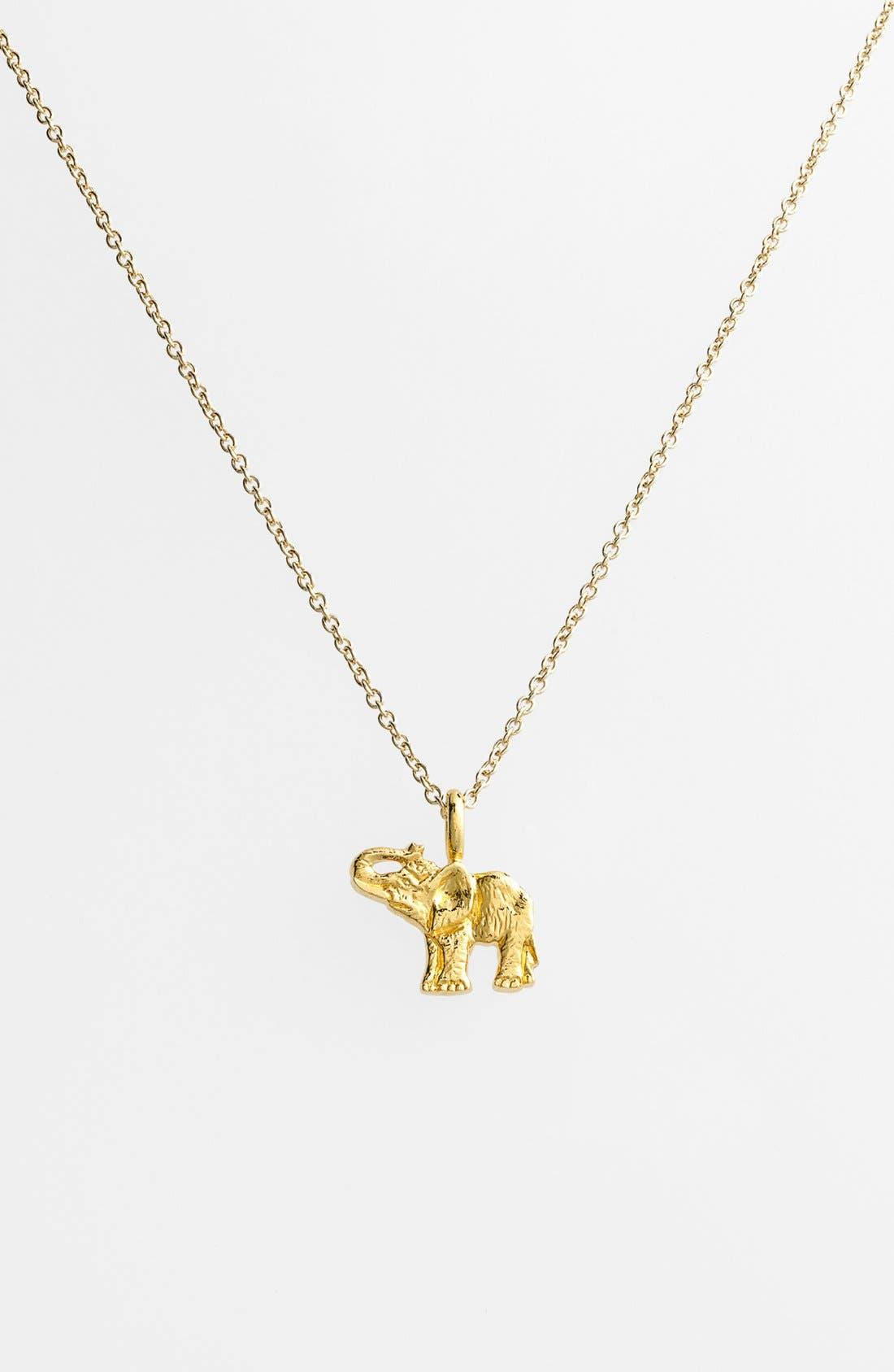 Alternate Image 3  - Dogeared 'Reminder - Live Large' Boxed Elephant Pendant Necklace