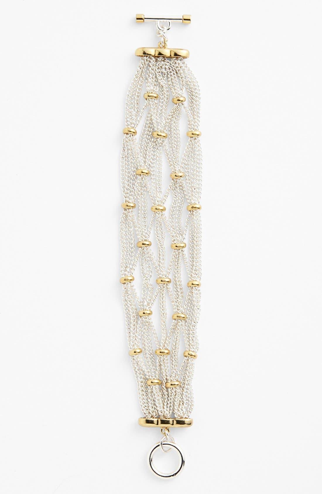 Alternate Image 2  - Lauren Ralph Lauren Two Tone Chain Bracelet