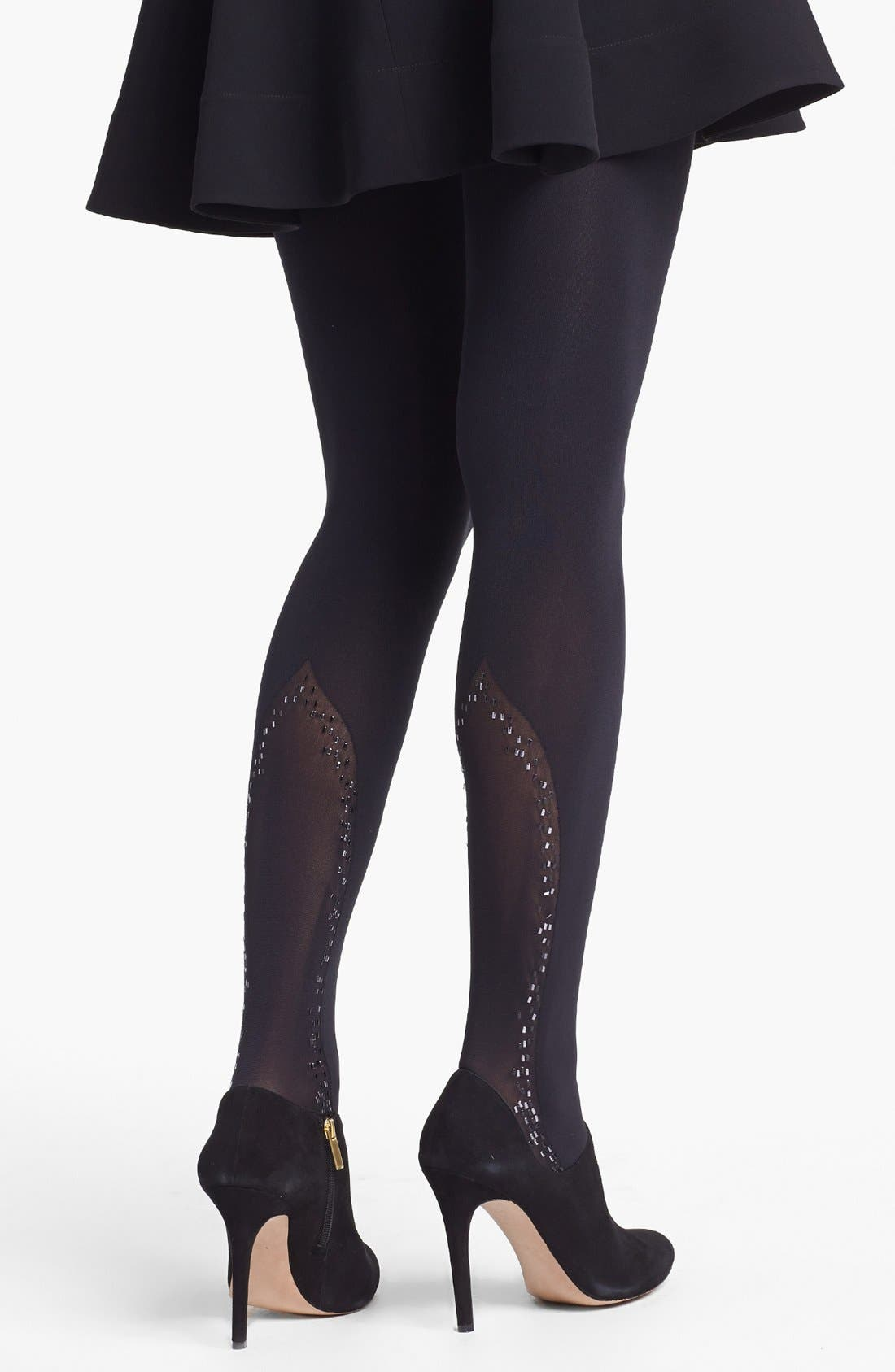Alternate Image 1 Selected - Pretty Polly 'Touch' Embellished Tights
