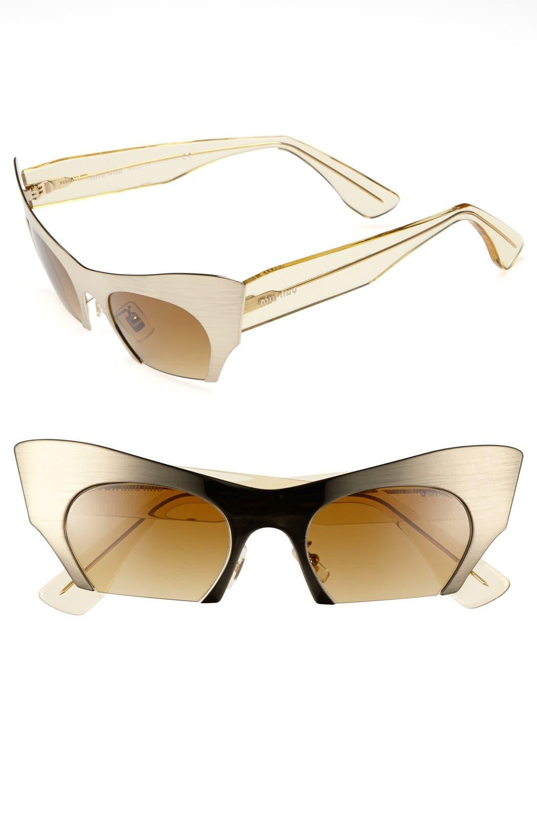 Alternate Image 1 Selected - Miu Miu 49mm Cat Eye Sunglasses