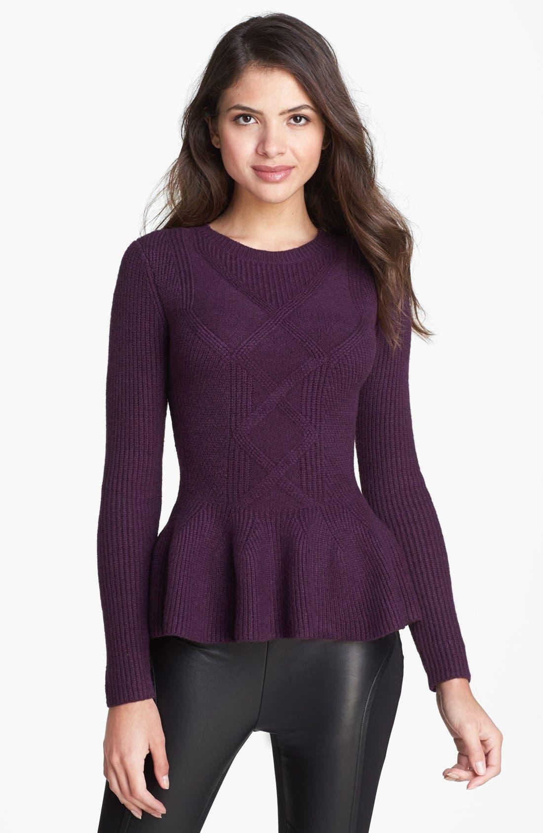 Alternate Image 1 Selected - Ted Baker London Peplum Sweater