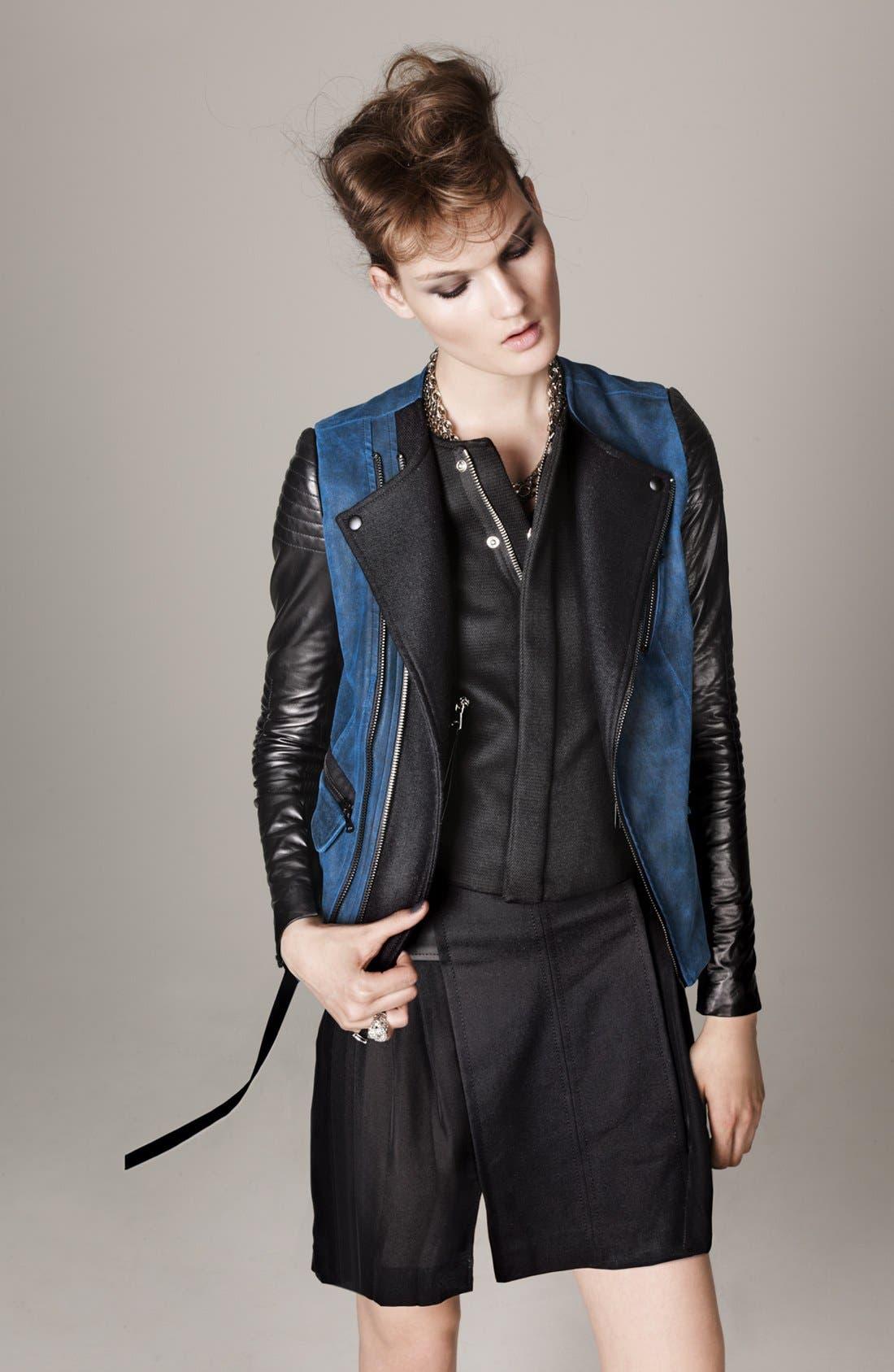 Main Image - Rebecca Taylor Vest, Moto Jacket & Skirt