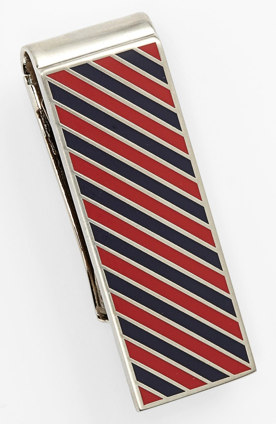 Alternate Image 1 Selected - Jack Spade Repp Stripe Money Clip