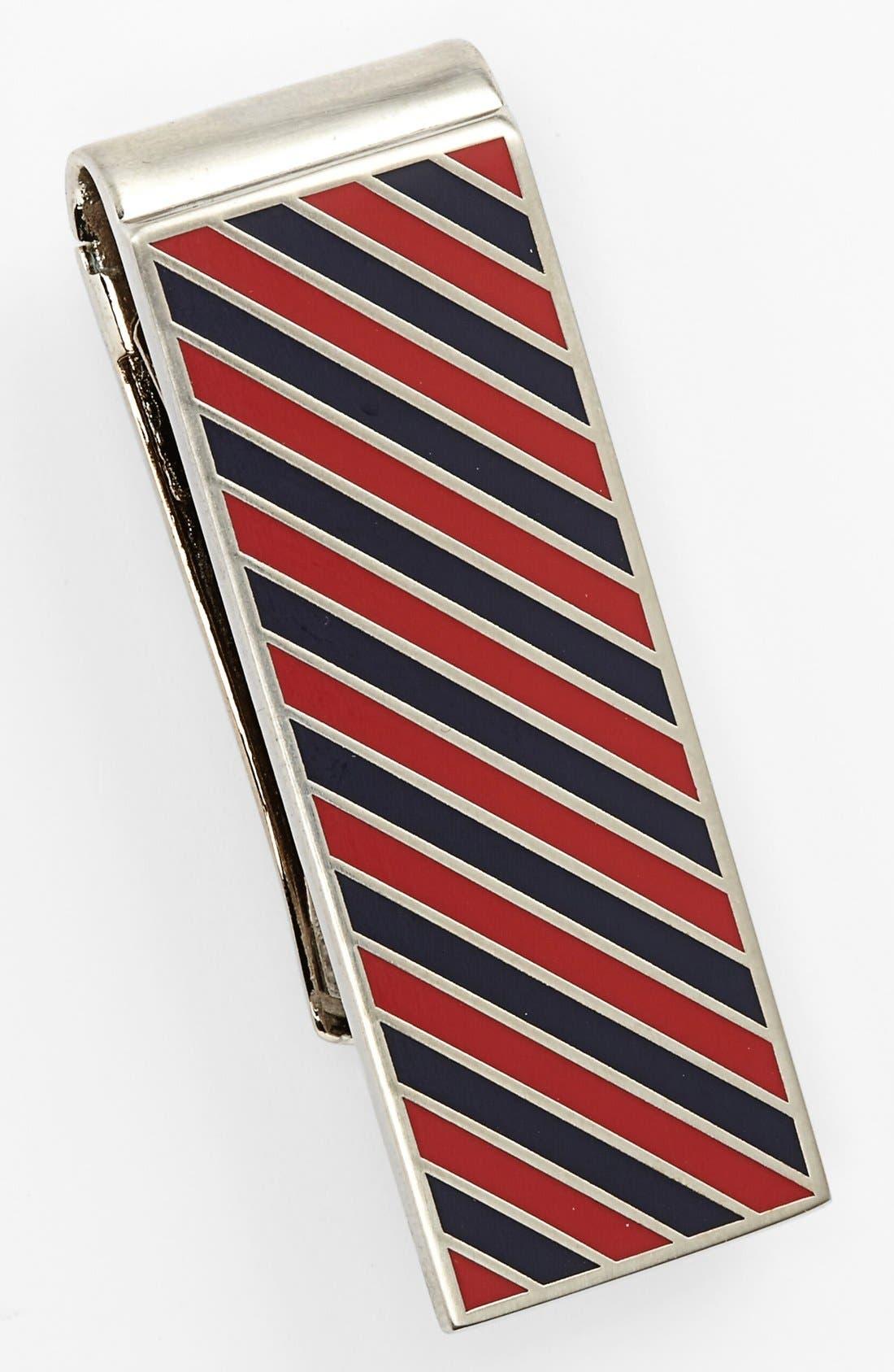 Main Image - Jack Spade Repp Stripe Money Clip