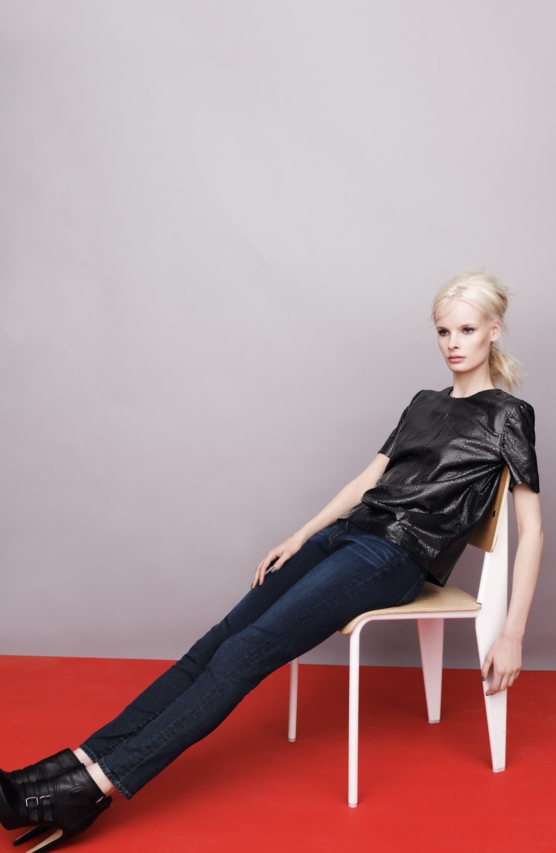 Alternate Image 4  - J Brand '811' Skinny Stretch Jeans (Umber)