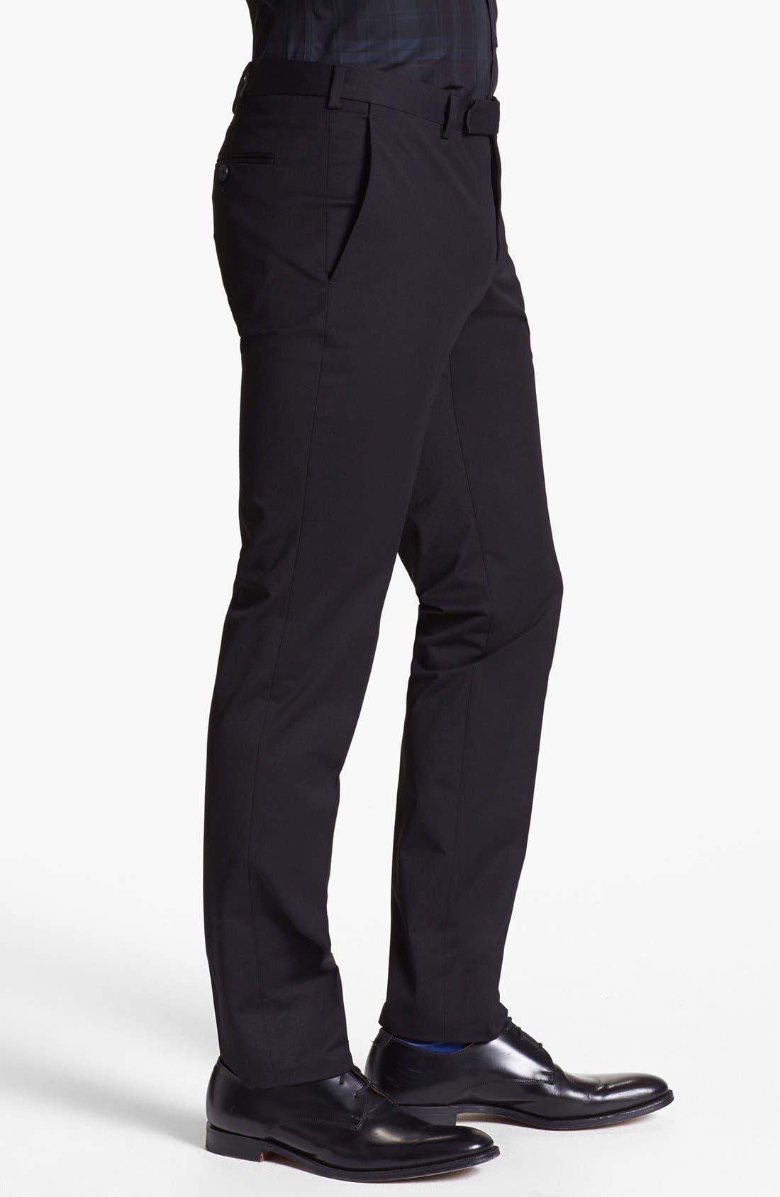 Alternate Image 3  - Z Zegna Slim Fit Gabardine Trousers