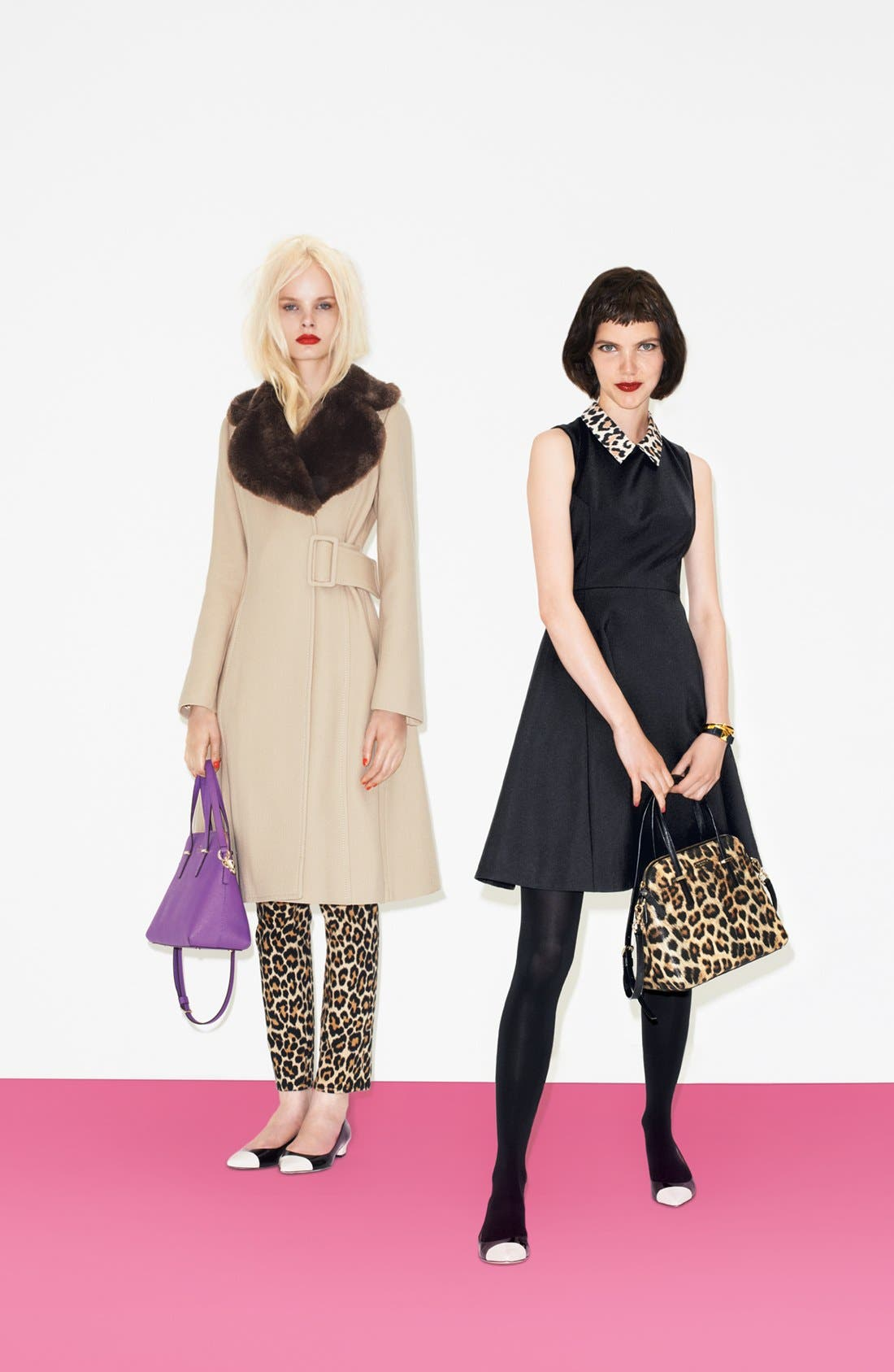 Alternate Image 4  - kate spade new york 'briella' faux fur collar coat