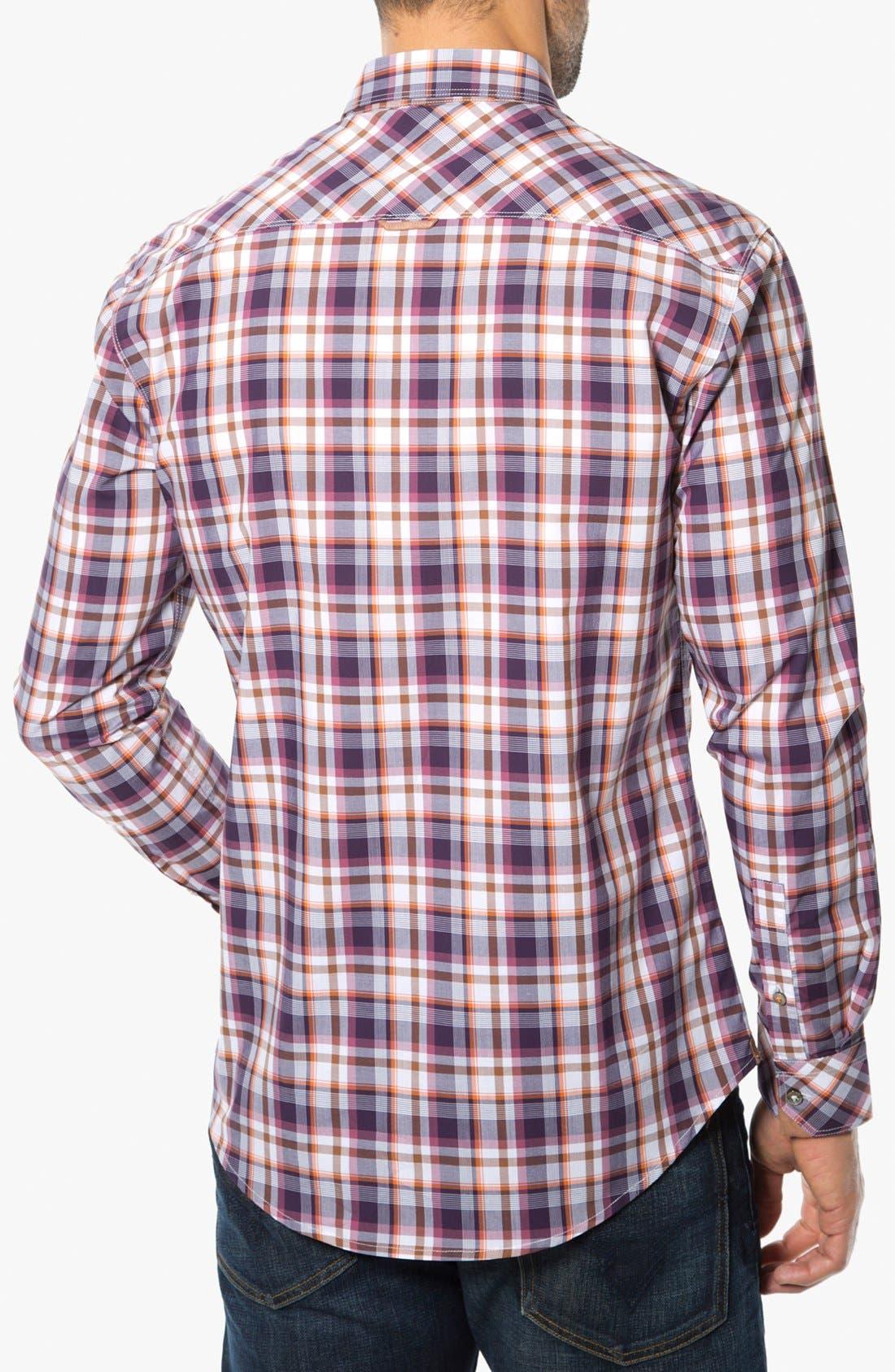 Alternate Image 2  - 7 Diamonds 'Sun is Shining' Plaid Trim Fit Cotton Sport Shirt