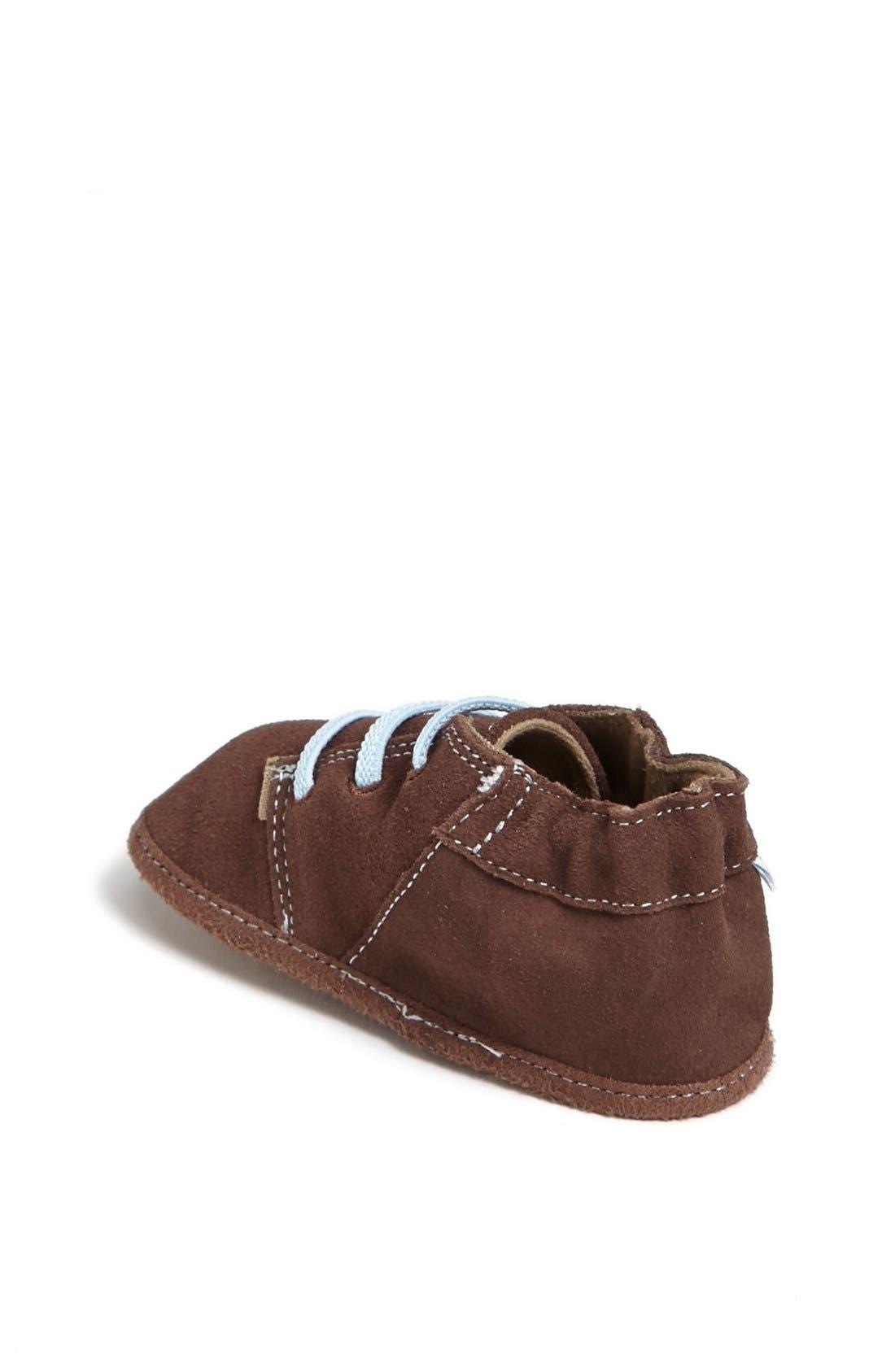 Alternate Image 2  - Robeez® 'Charlie' Crib Shoe (Baby & Walker)