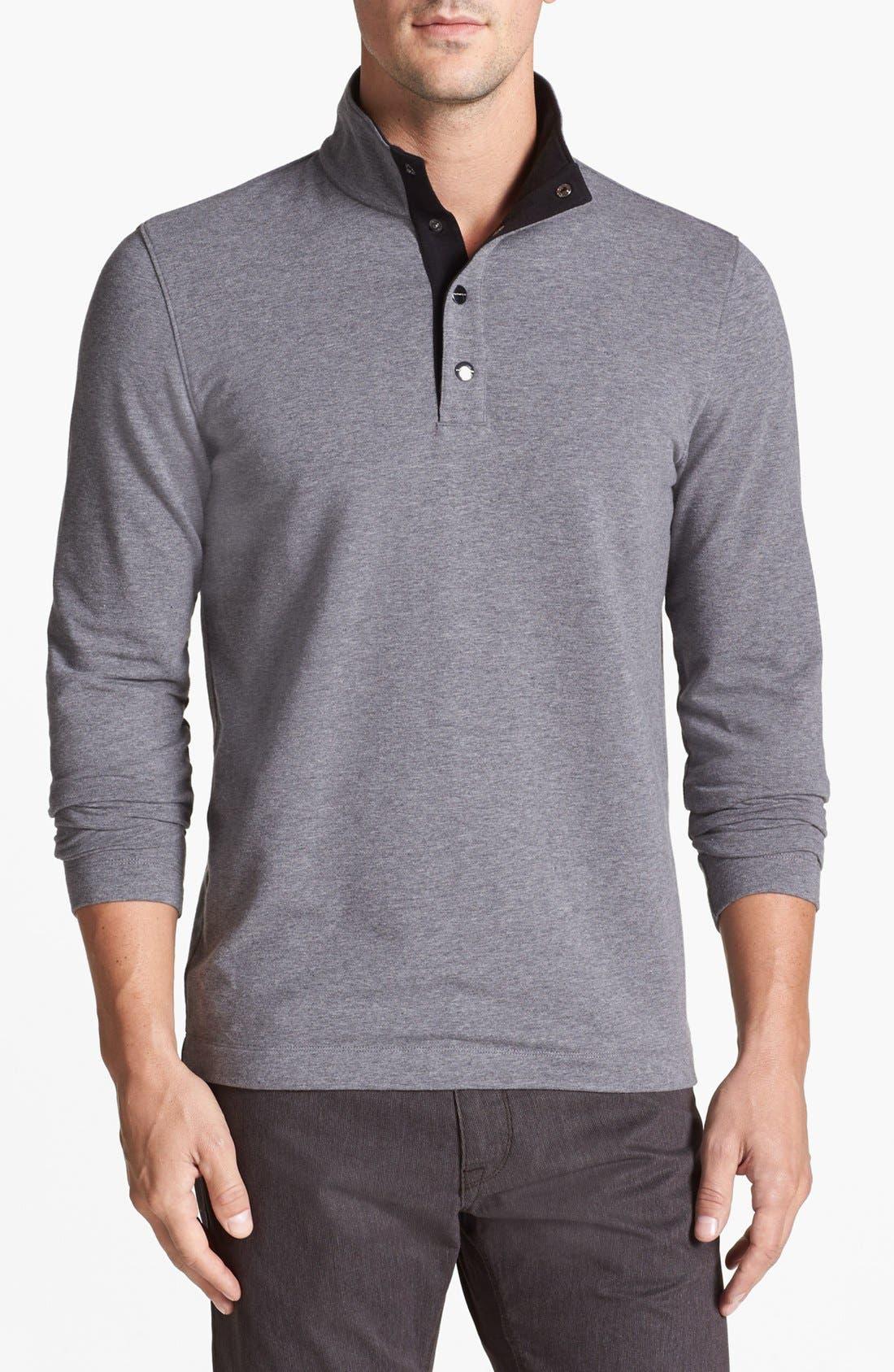 Alternate Image 1 Selected - Michael Kors Fleece Long Sleeve Top