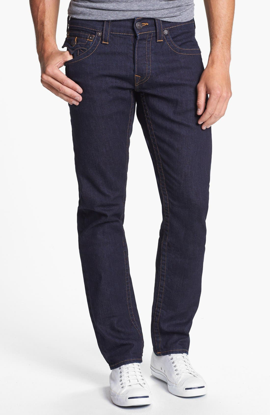 Alternate Image 2  - True Religion Brand Jeans 'Jack' Slim Fit Jeans (Midnight Blue)