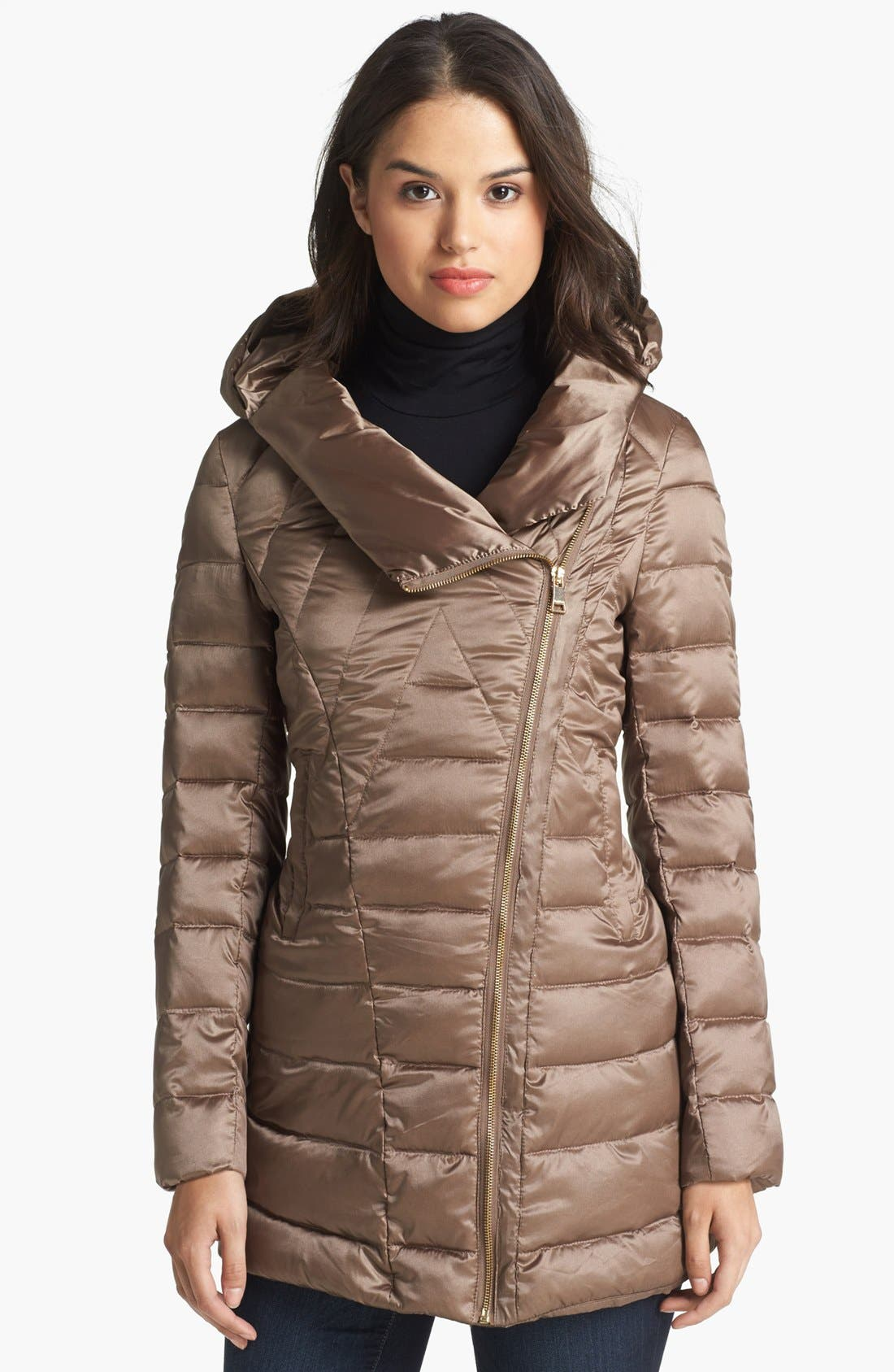 Main Image - bebe Hooded Down & Feather Jacket