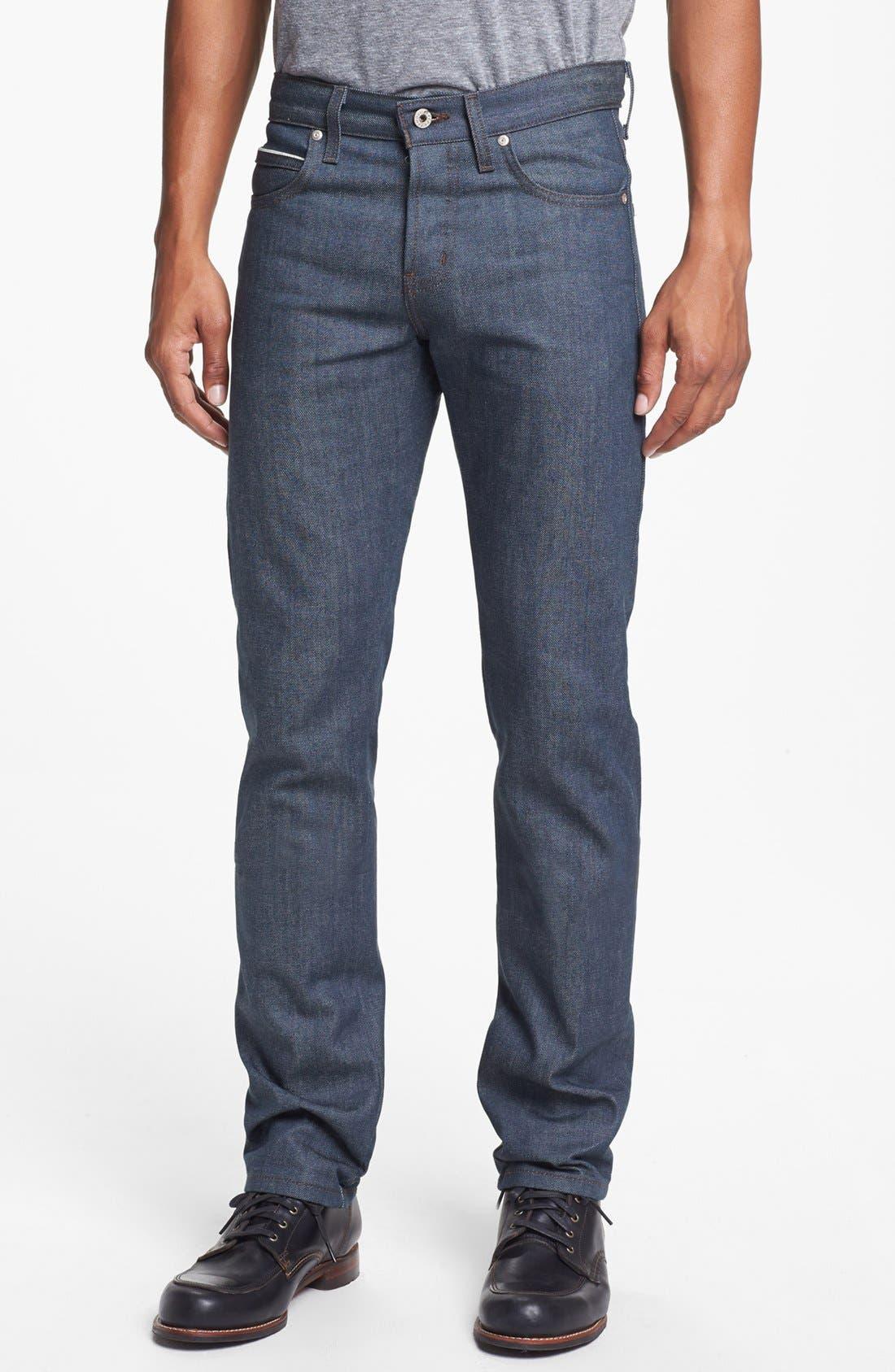 Alternate Image 2  - Naked & Famous Denim 'Skinny Guy' Skinny Fit Selvedge Jeans