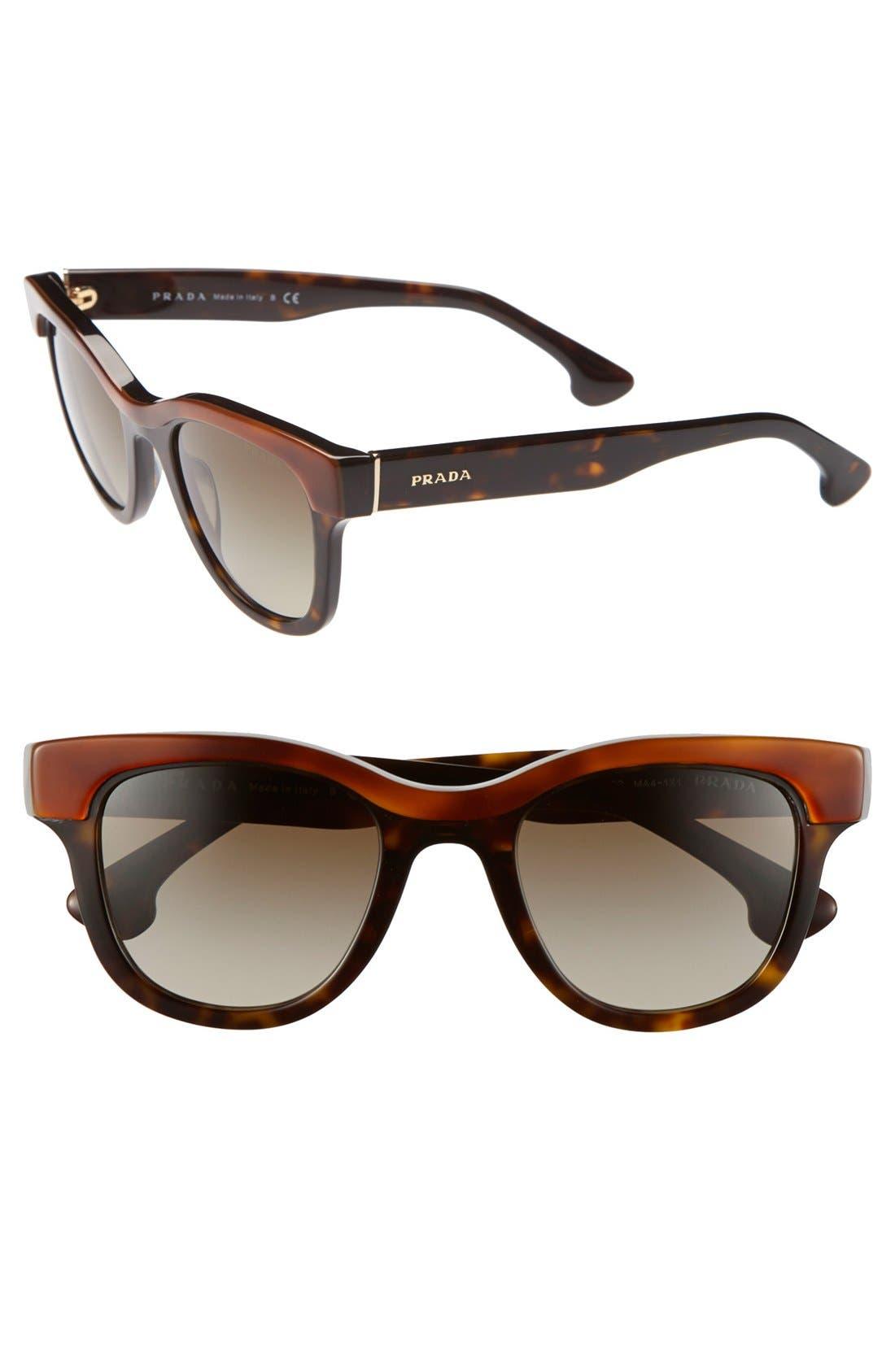 Alternate Image 1 Selected - Prada 'Crow' 49mm Sunglasses